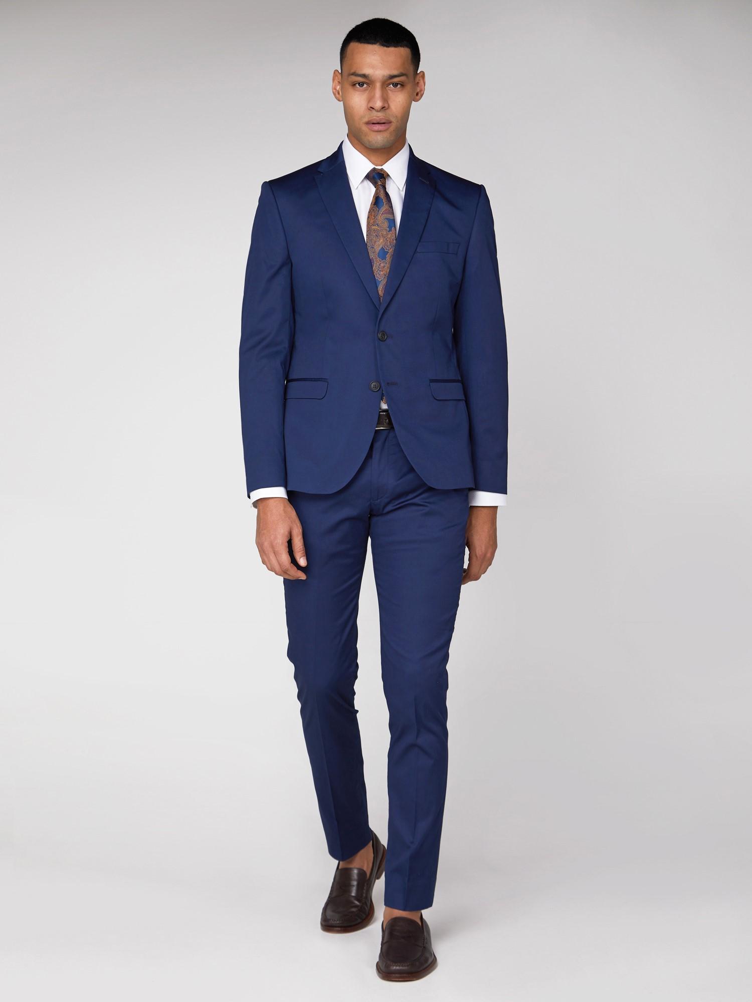 Blue Cotton Camden Trouser