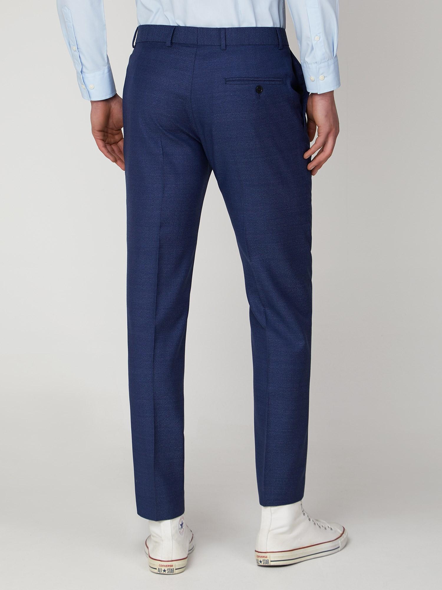 Blue Jaspe Slim Fit Suit Jacket