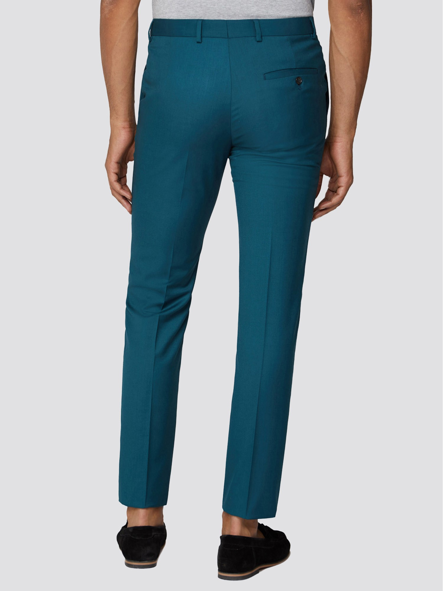 Teal Twill Skinny Fit Suit