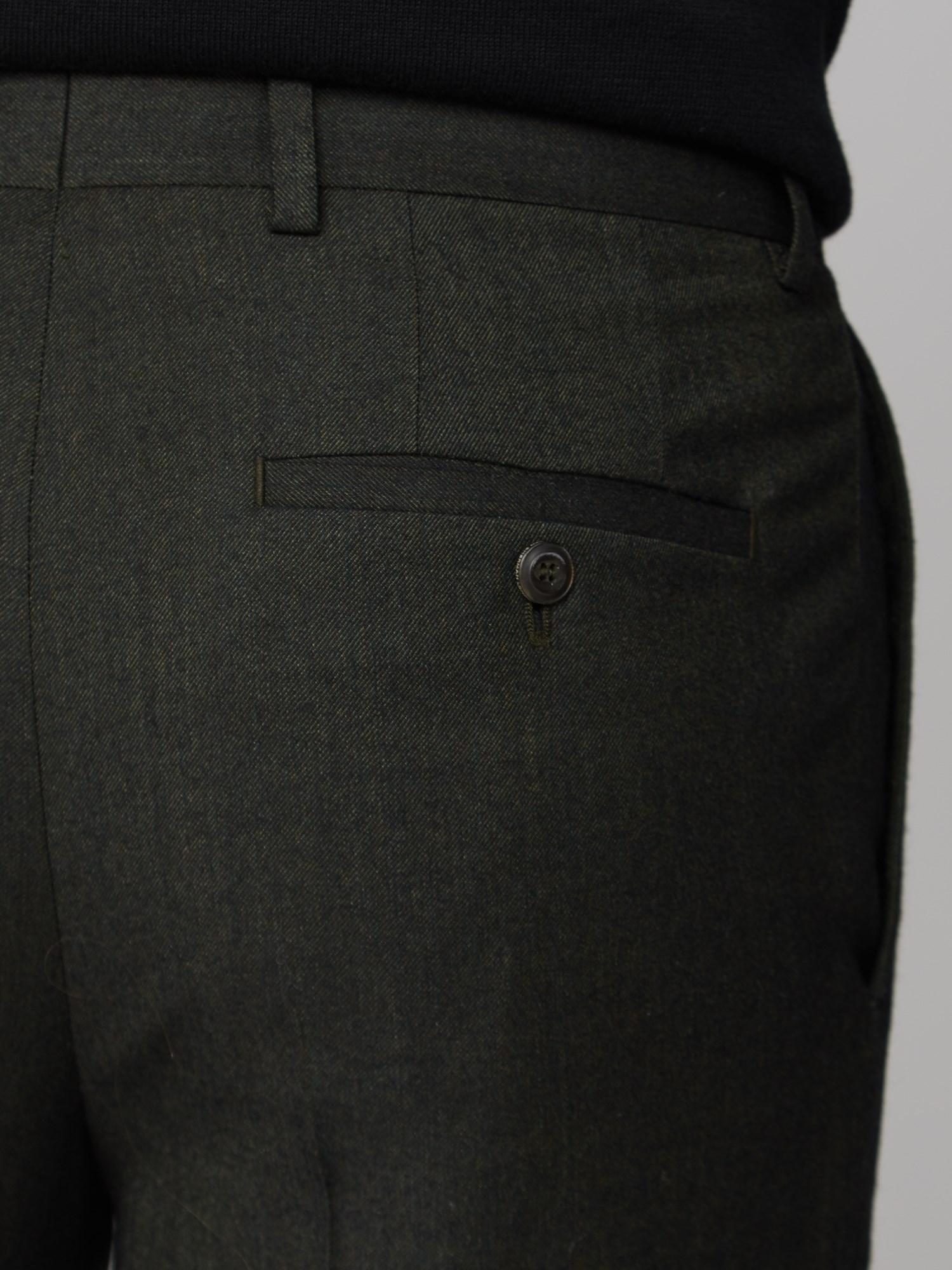 Deep Green Flannel Suit Trouser