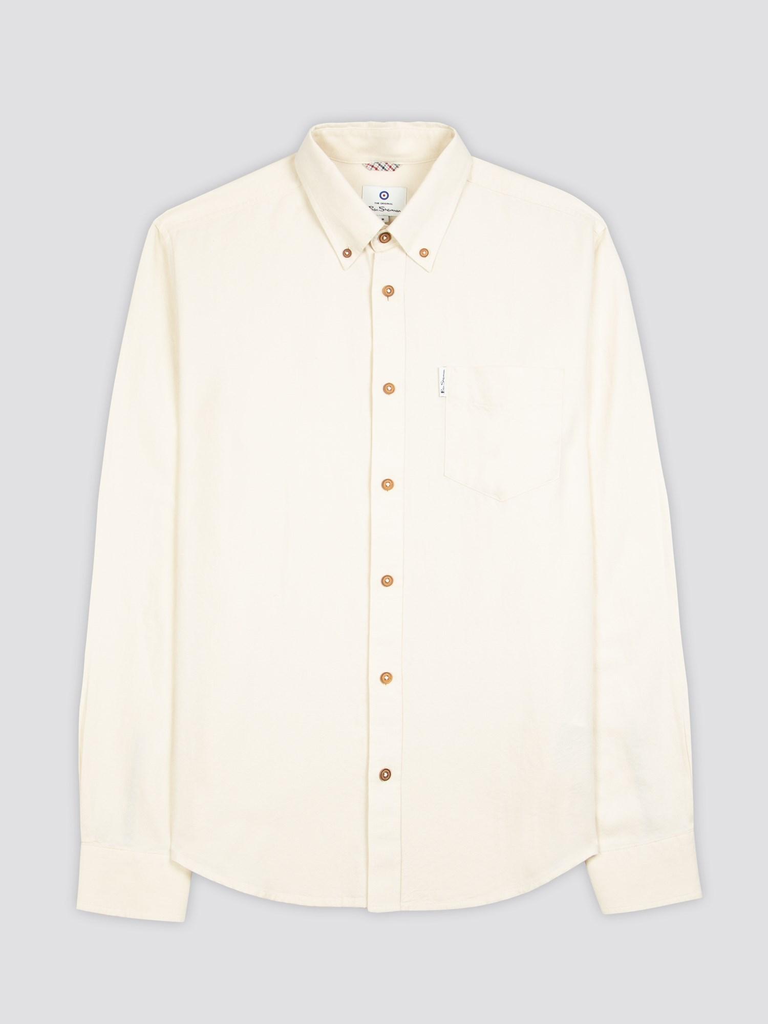 Ecru Signature Button Down Oxford Shirt