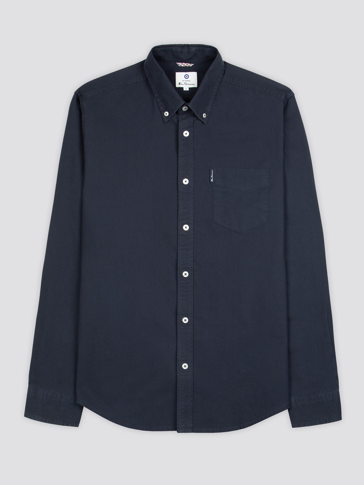 Navy Signature Button Down Oxford Shirt