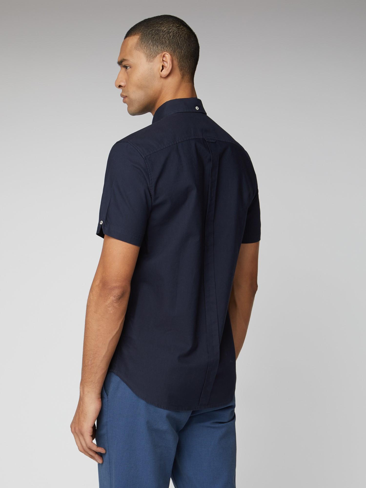 Signature Navy Button Down Oxford Shirt