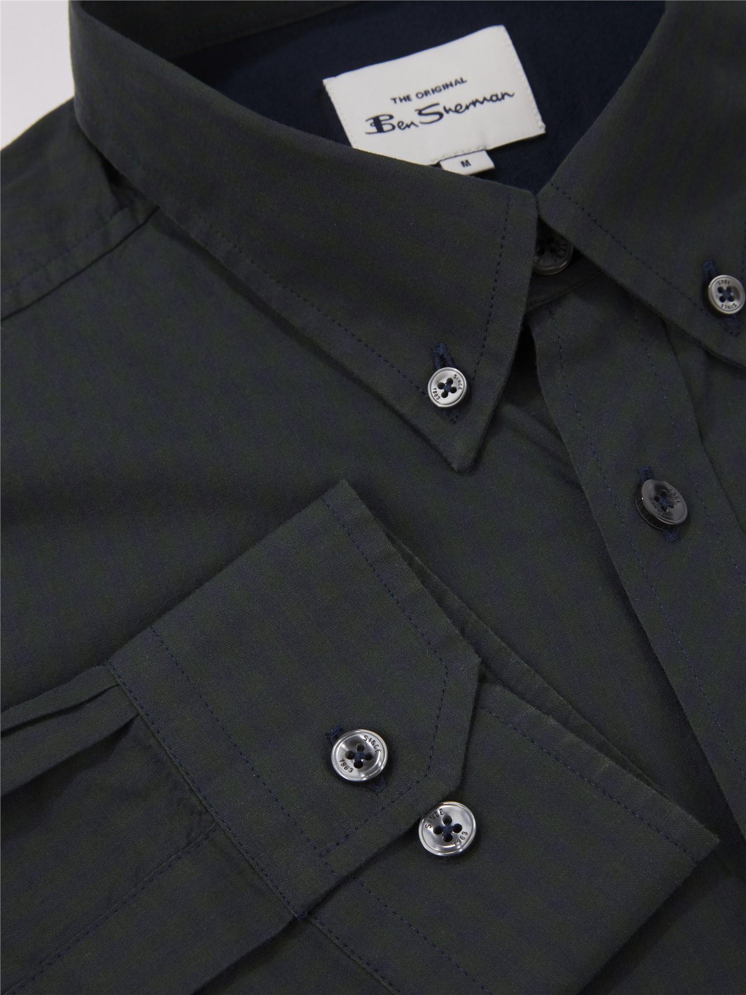 Dark Green Signature Gingham Shirt