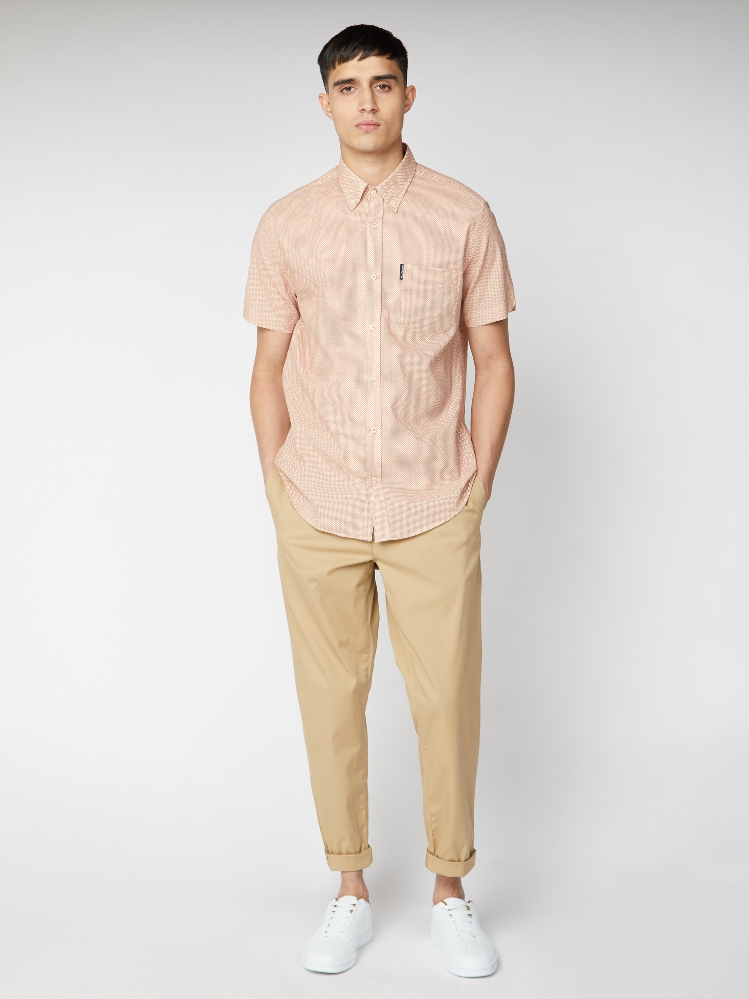 Beige Relaxed Casual Trousers
