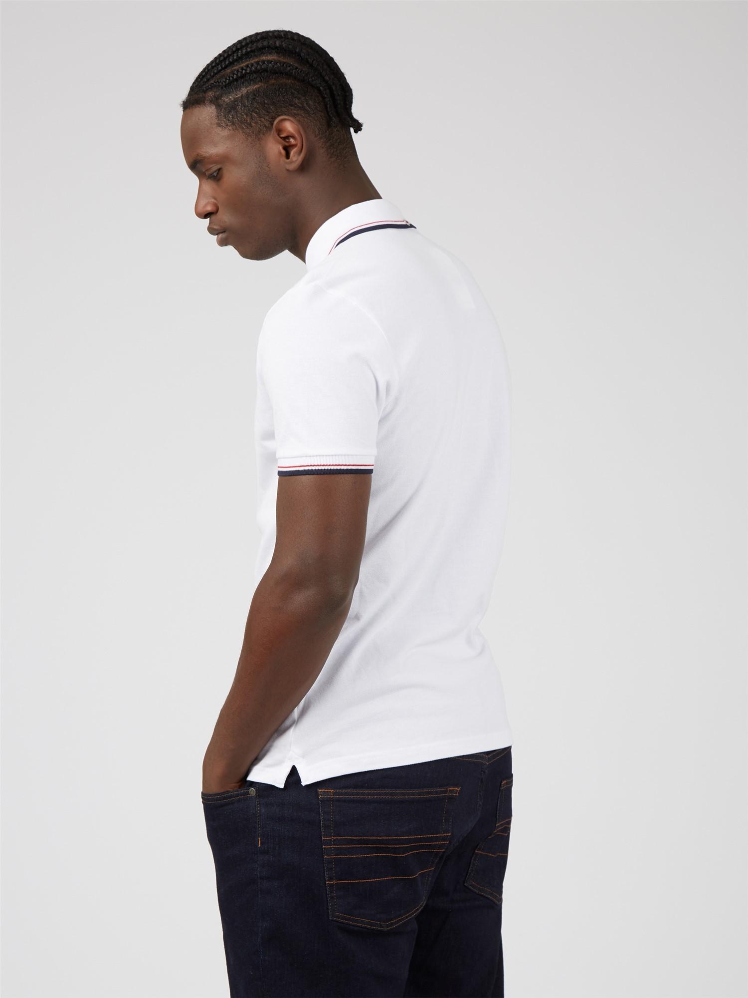 White Organic Signature Polo Shirt