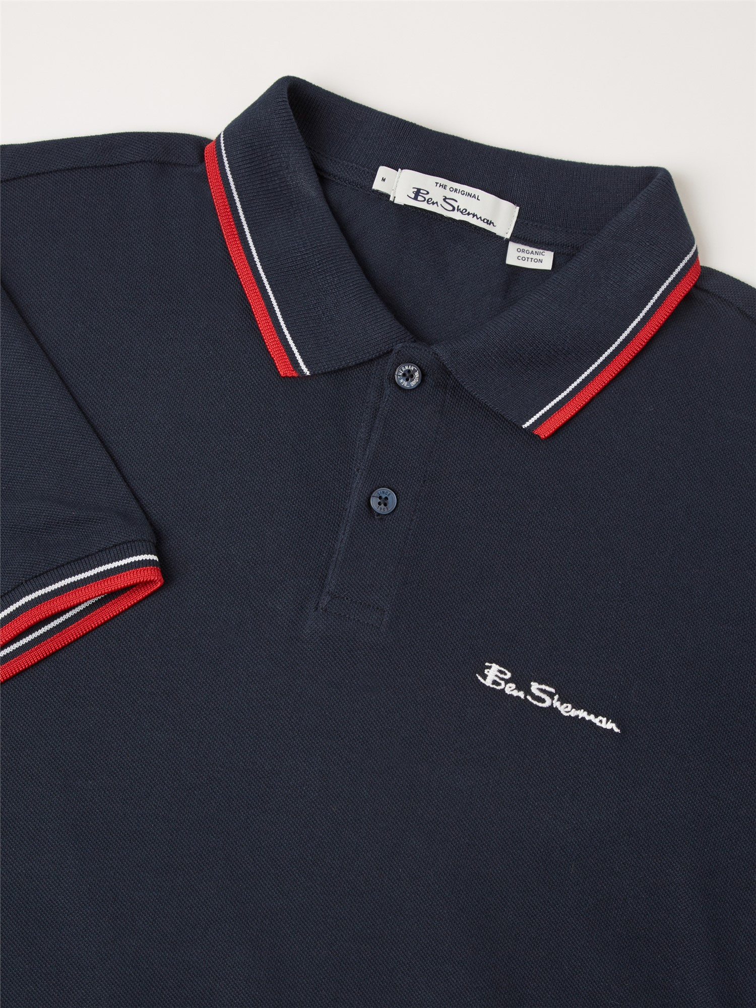 Navy Organic Signature Polo Shirt