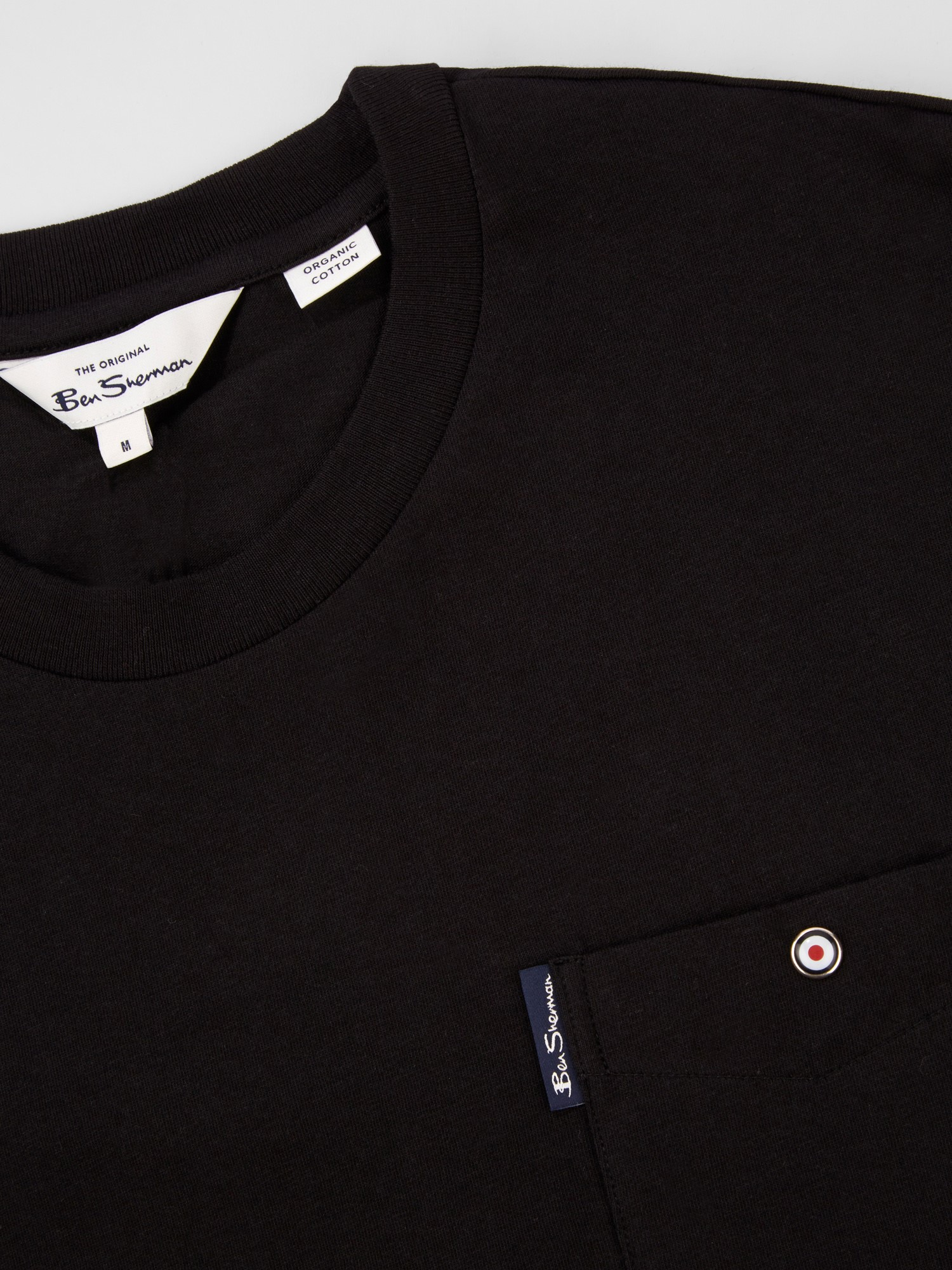 Black Signature Tee with Chest Pocket