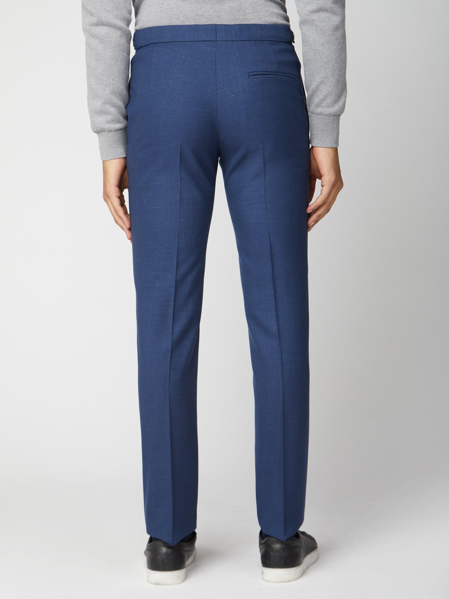 Bright Blue Fleck Slim Fit Suit Trouser