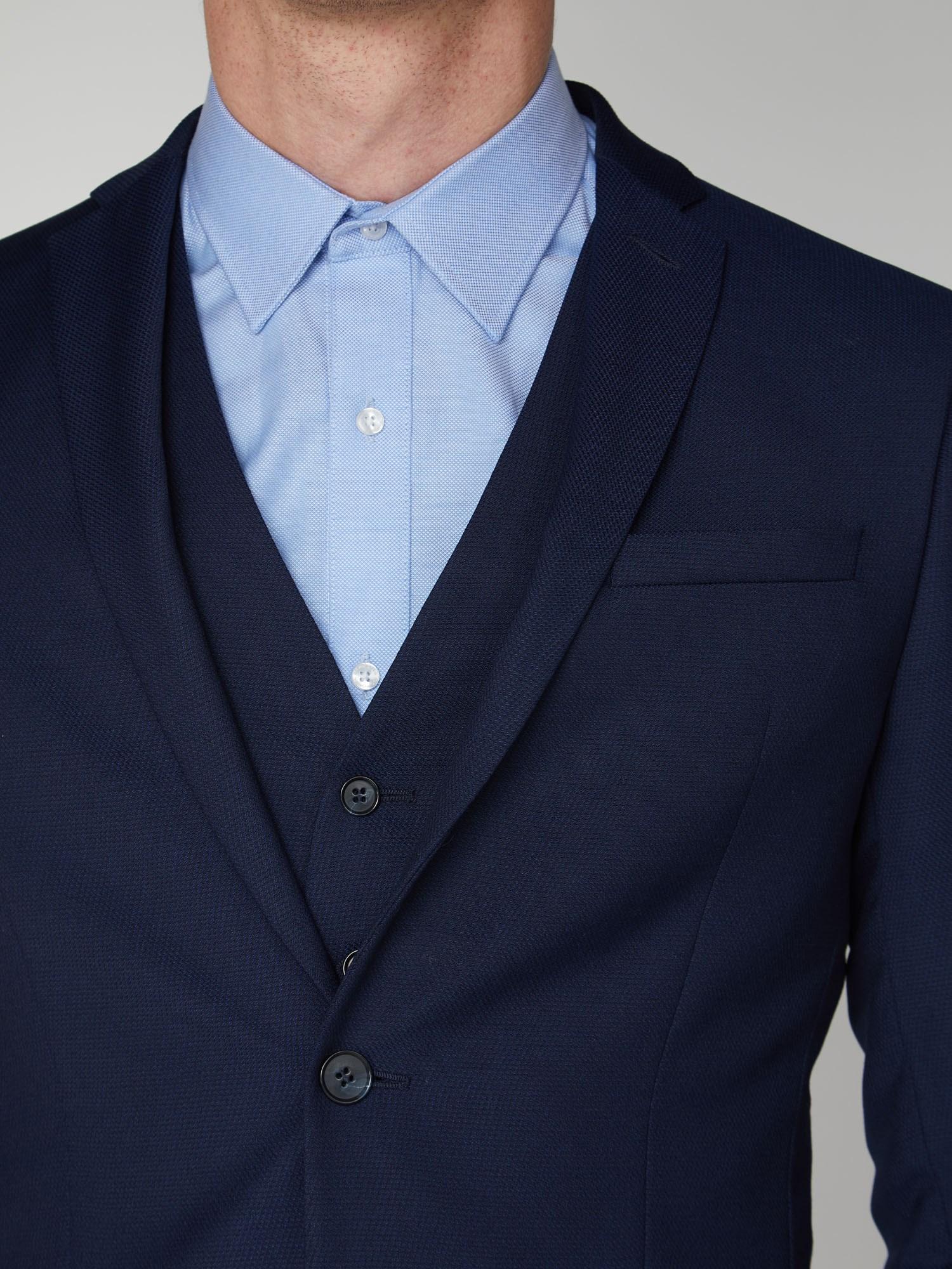 Bright Blue Semi Plain Suit Trousers