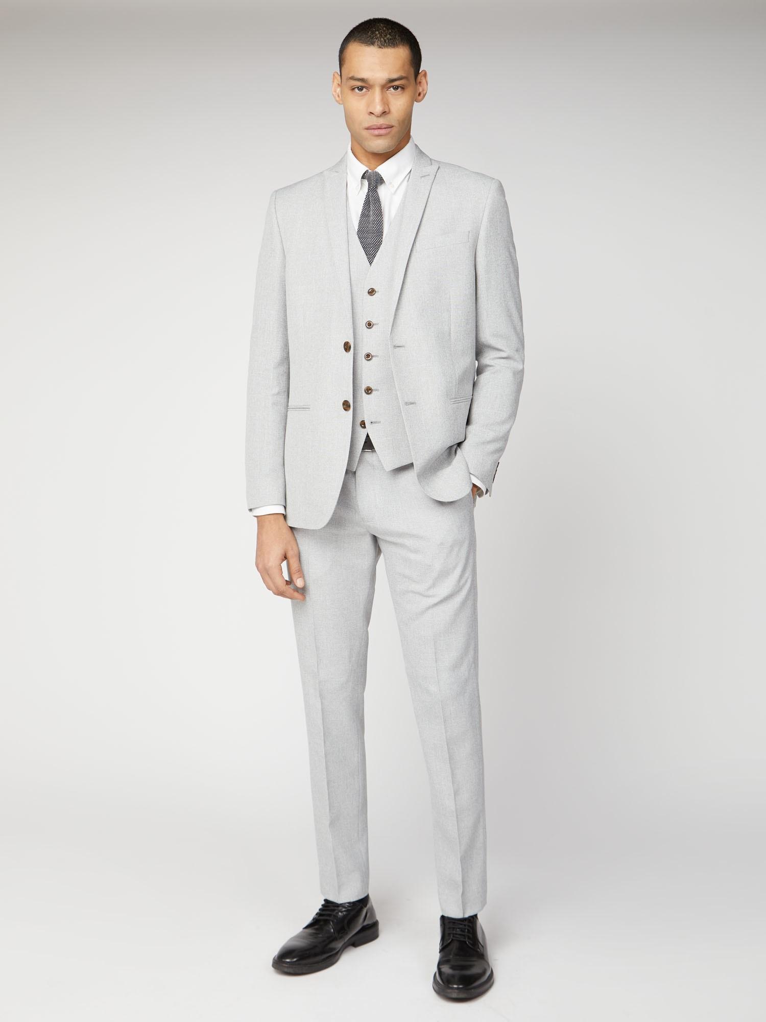 Cool Grey Texture Slim Fit Suit