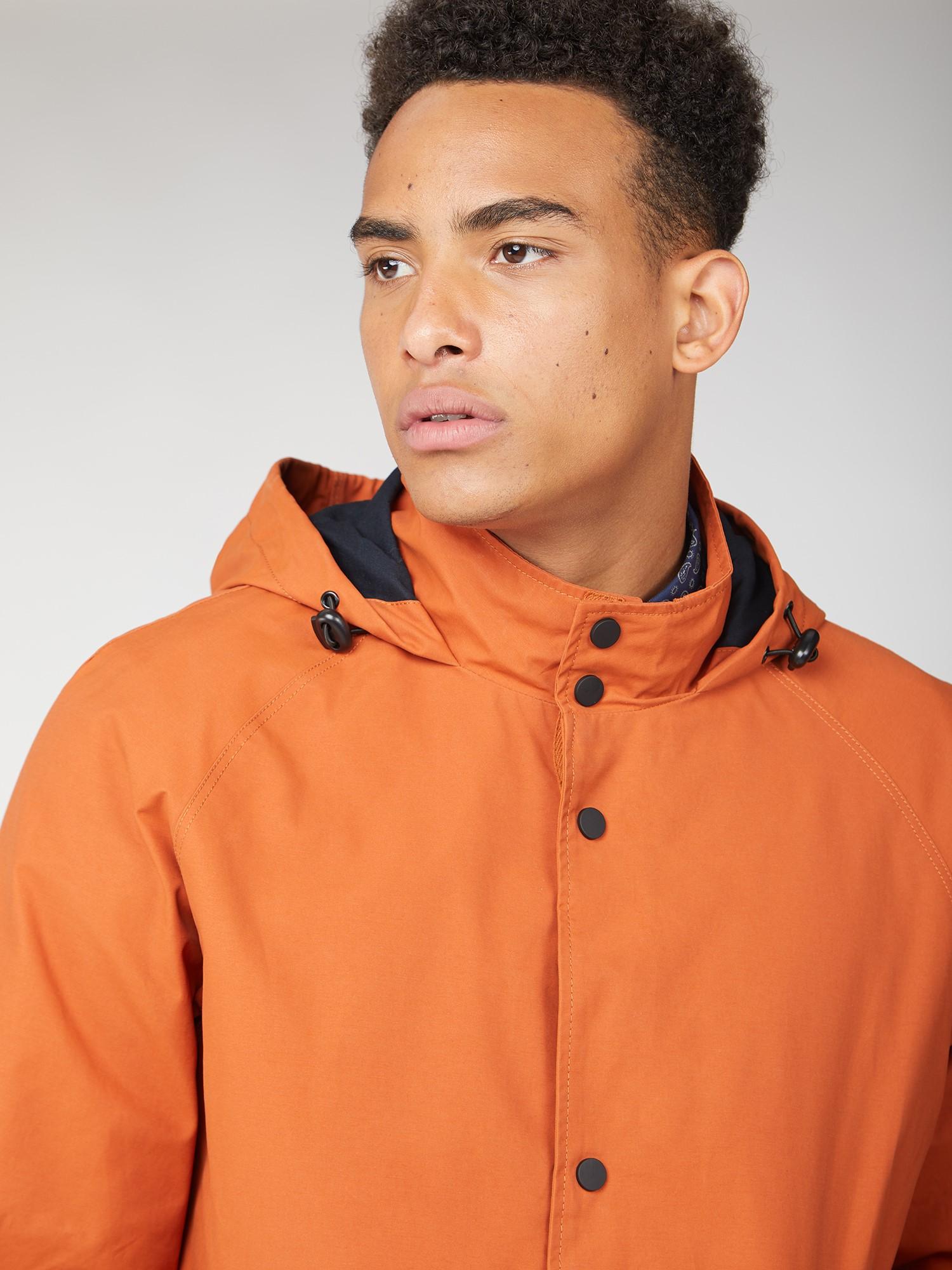 Ben Sherman Hooded Orange Coach Jacket