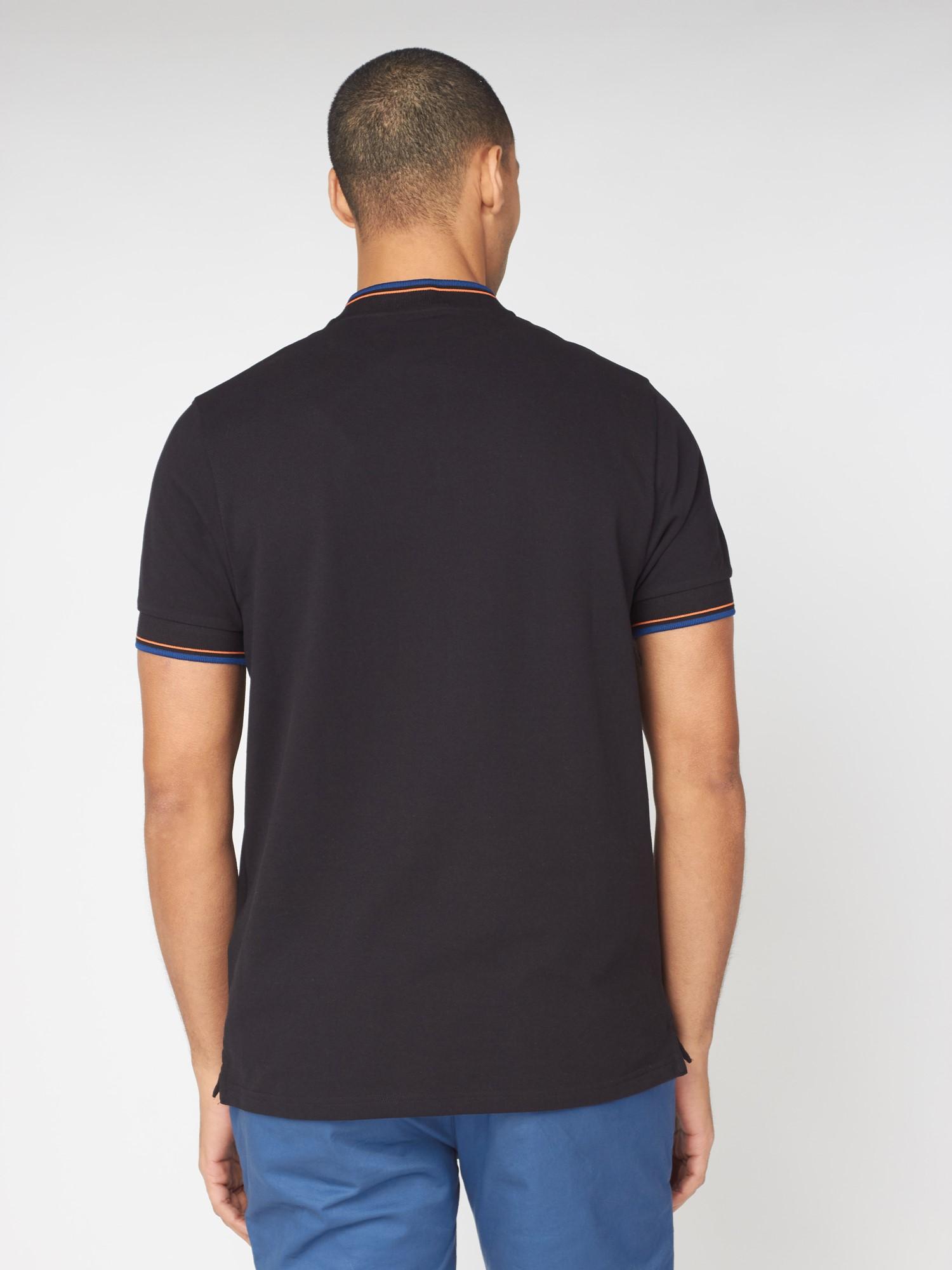 Baseball Collar Polo Shirt