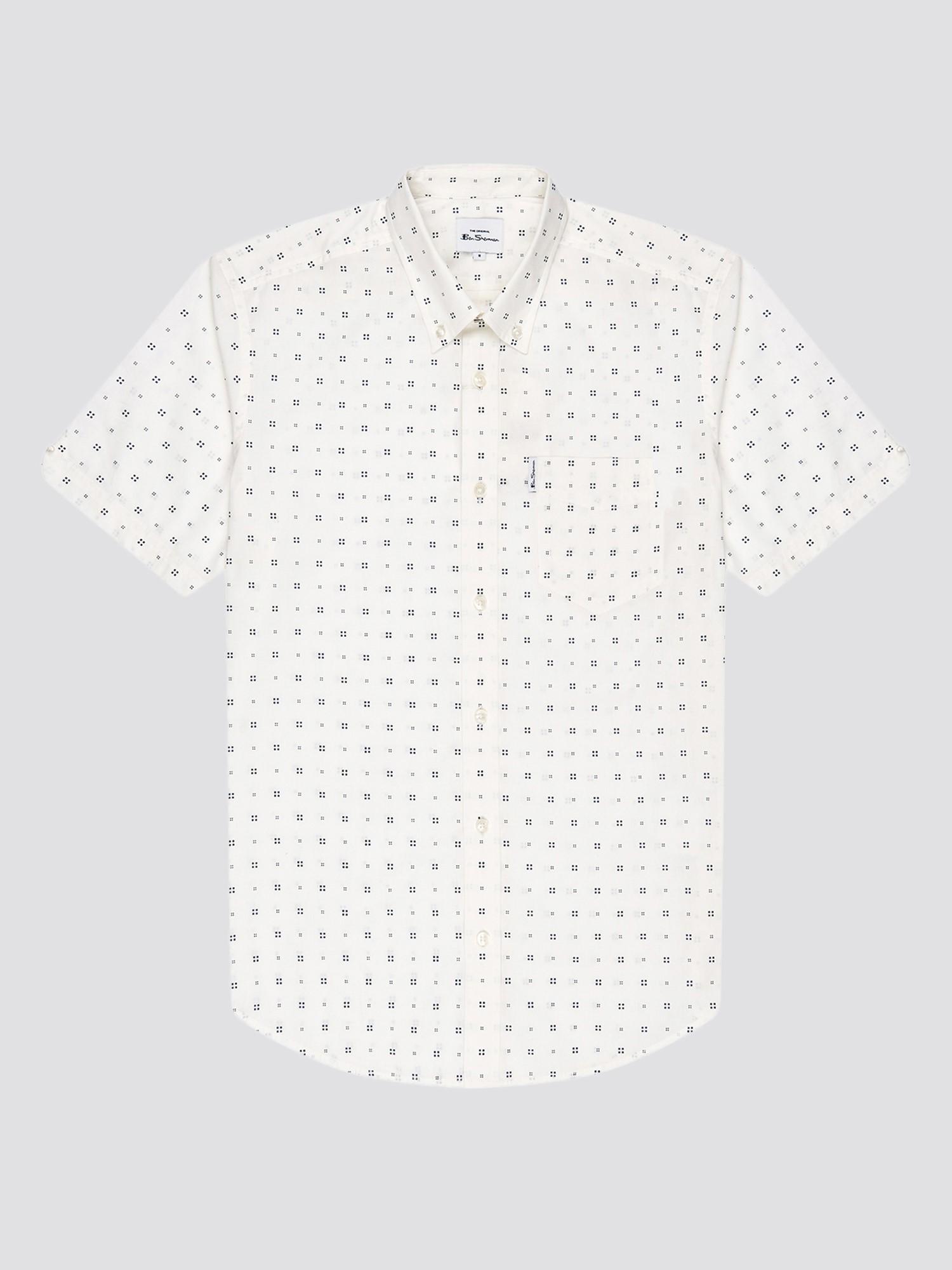 Scattered Geo Print Shirt