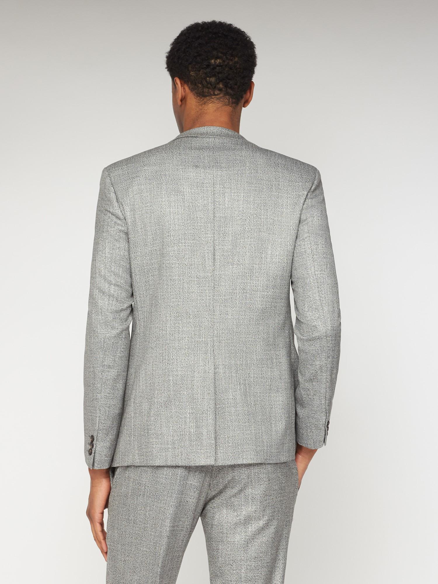 Grey Twist Structure Slim Fit Suit