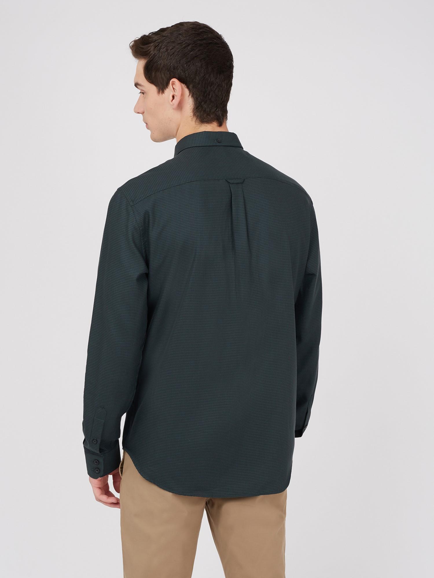 Long Sleeve Puppytooth Shirt