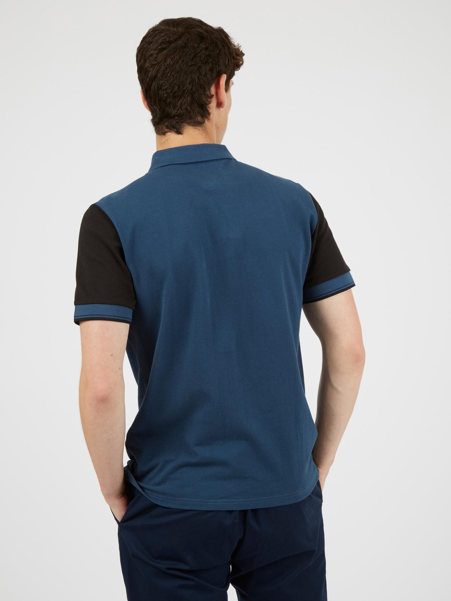 Vertical Colour Block Polo Shirt