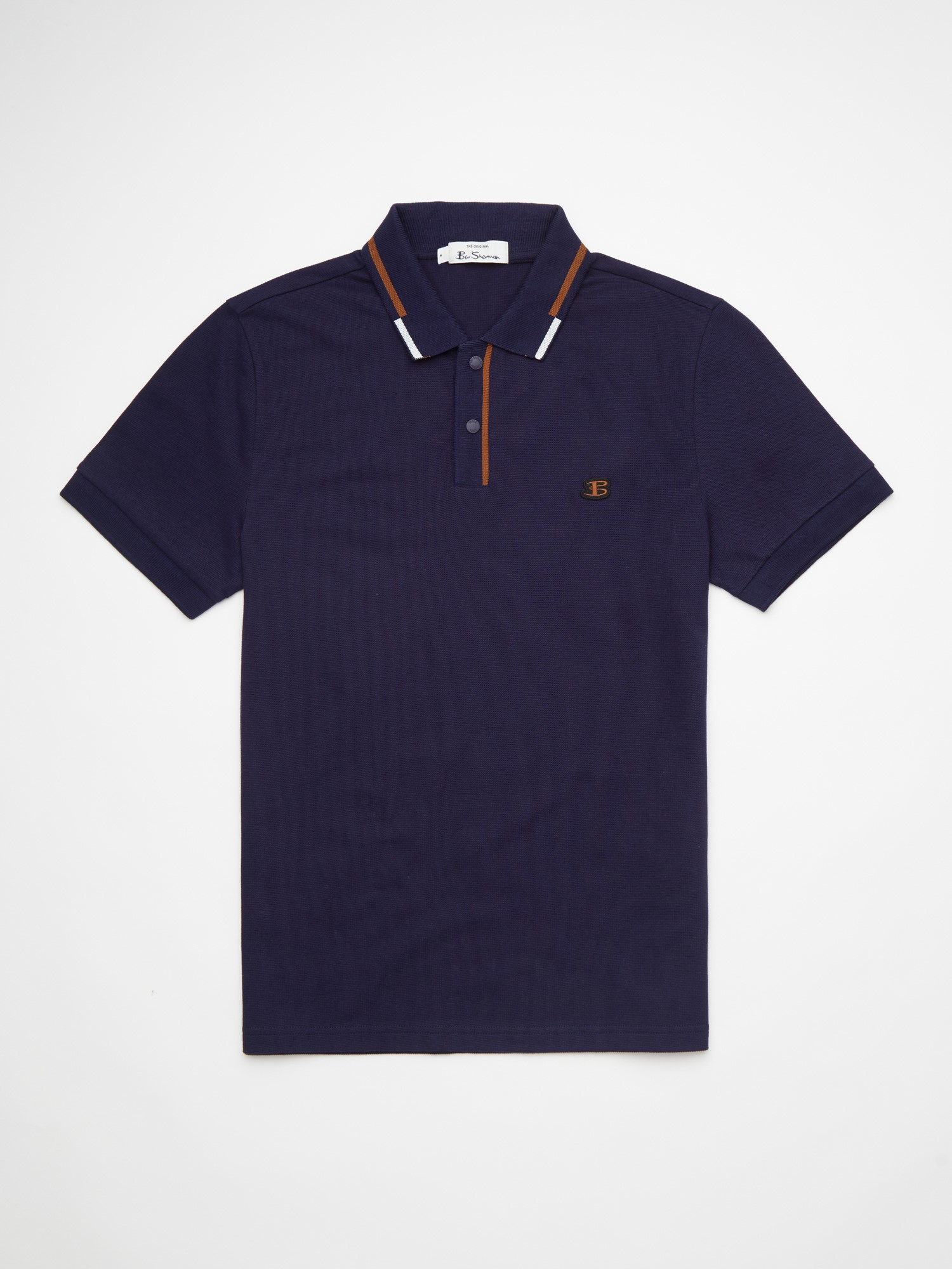 Marine Textured Pique Polo Shirt