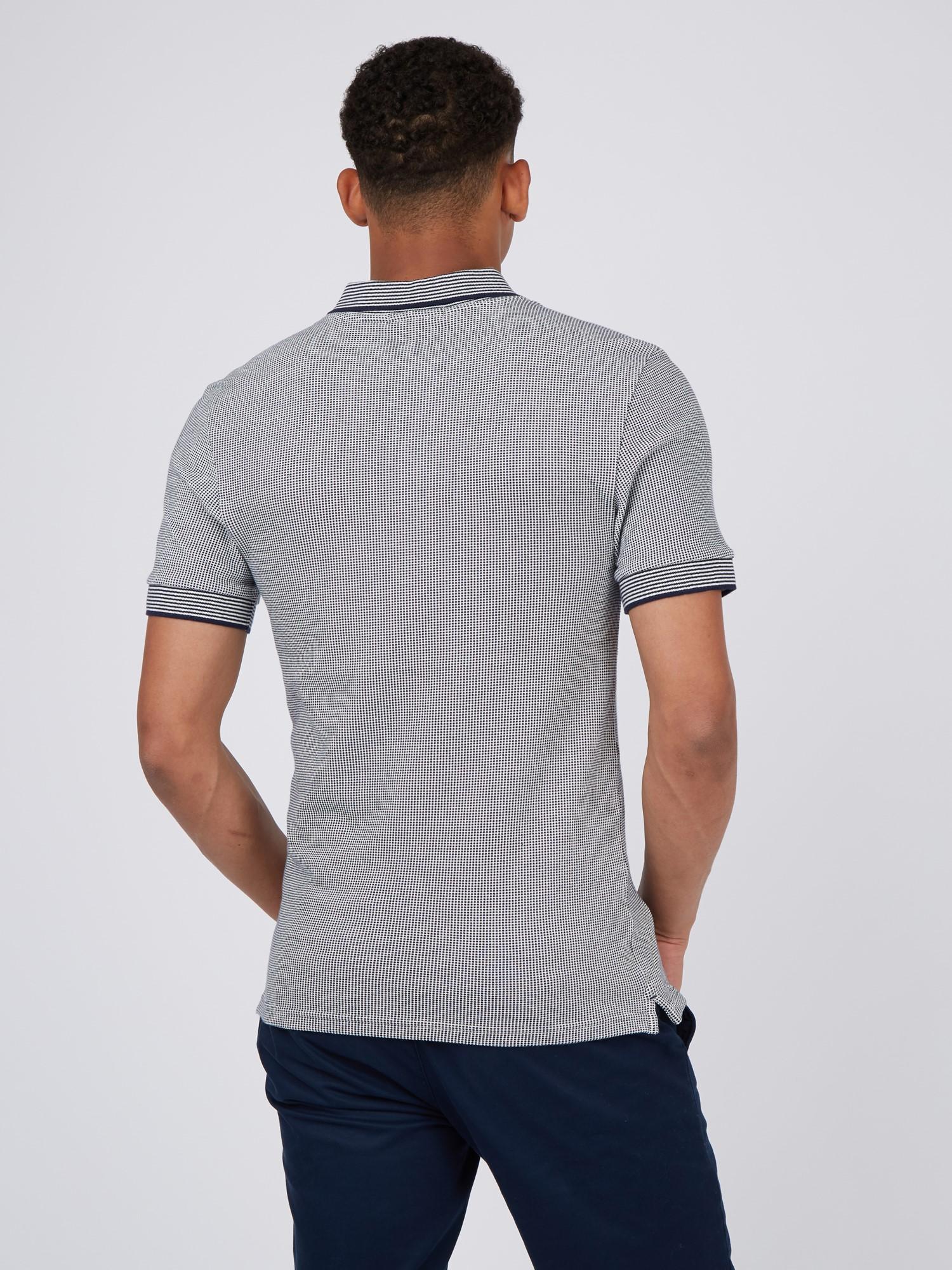 Marine Jacquard Polo Shirt