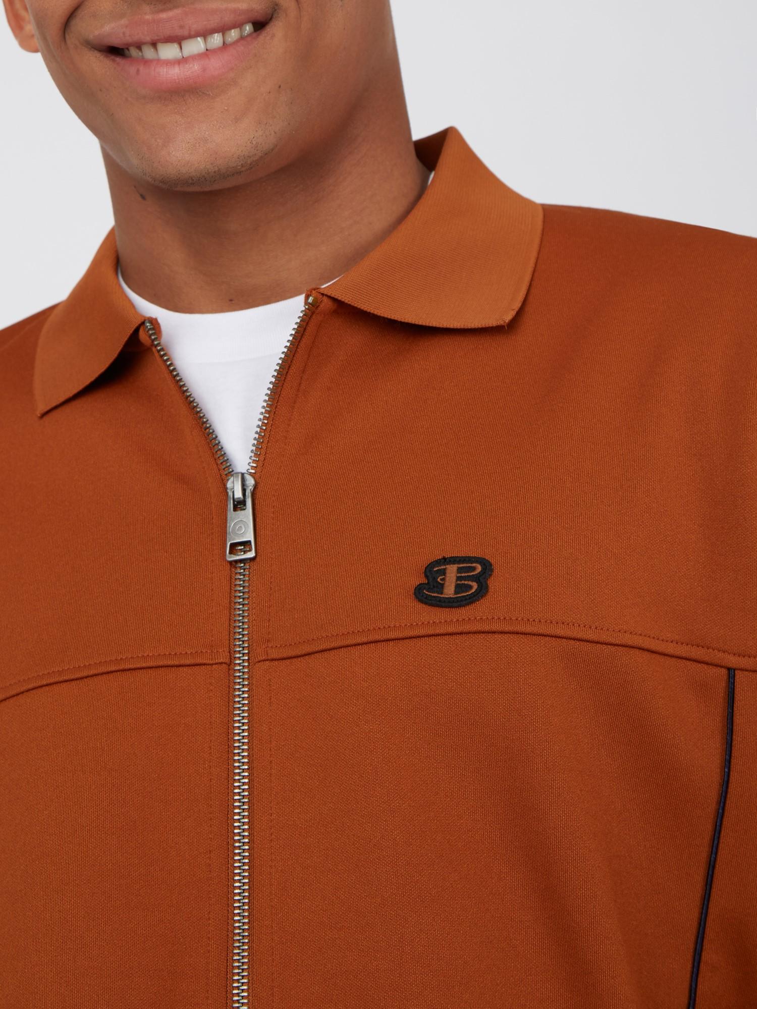Tricot Polo Collar Zip Through Jacket