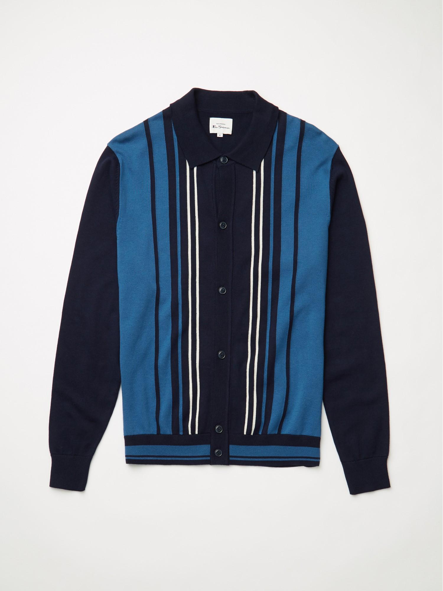 Long Sleeve Button Through Polo Shirt