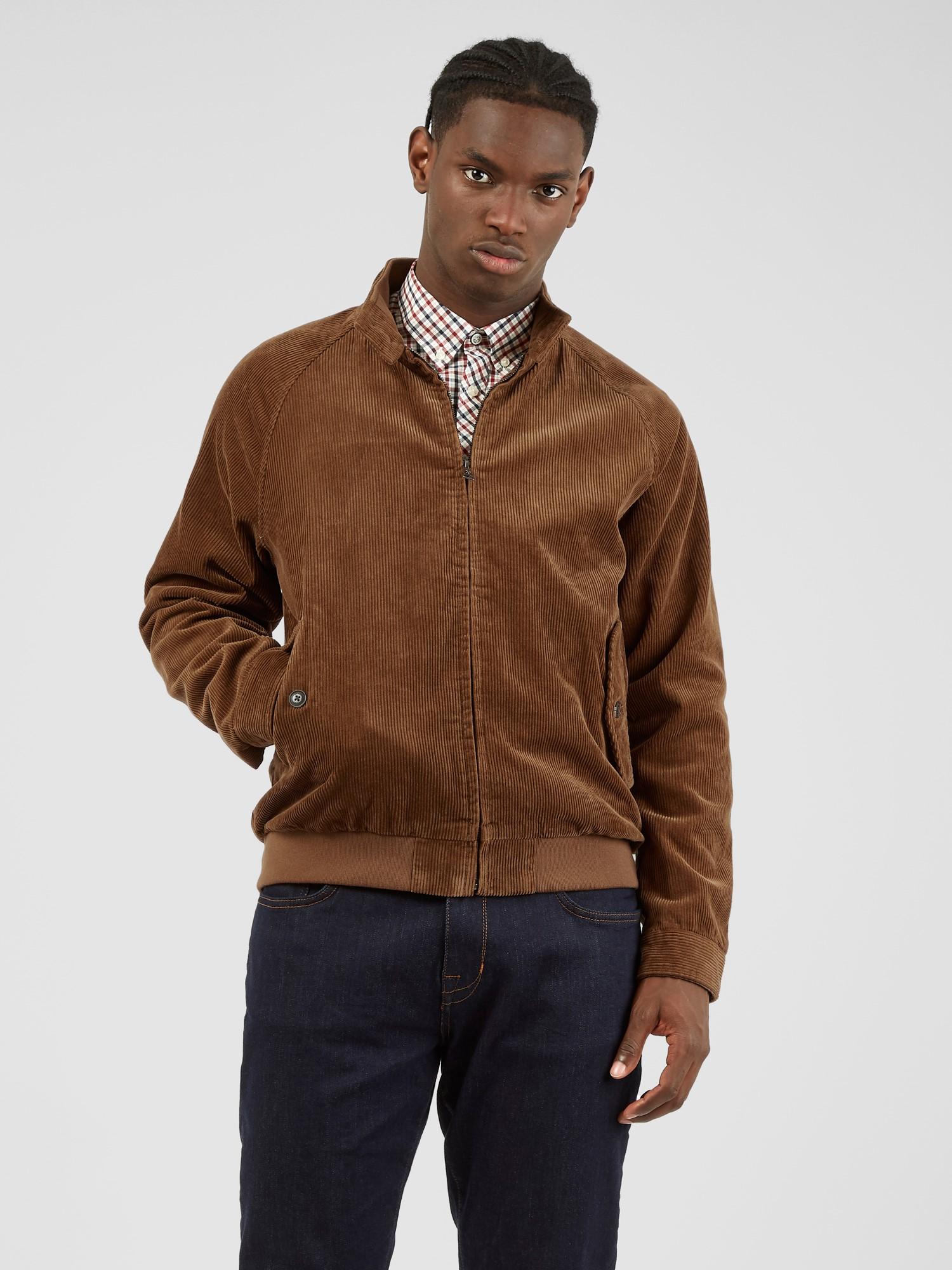 Tan Cord Harrington Jacket