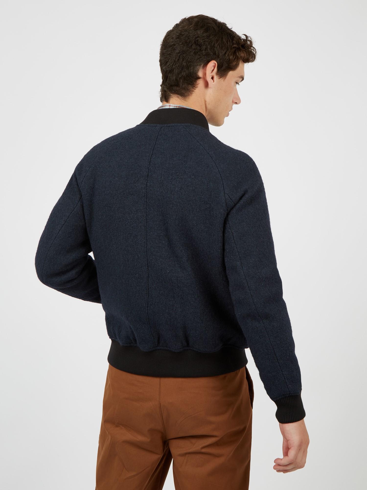 Boiled Wool Bomber Jacket