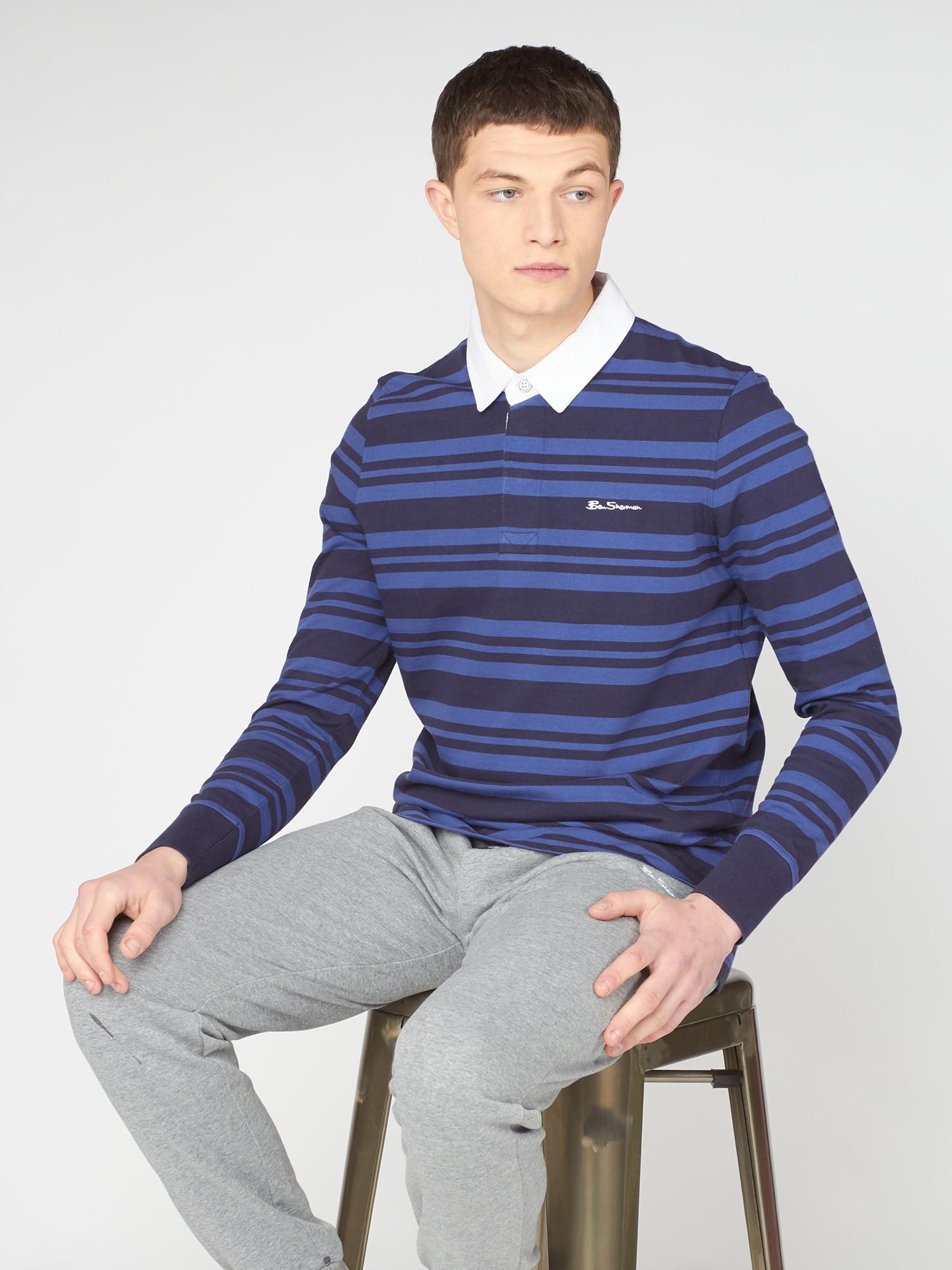 Tonal Stripe Rugby Shirt