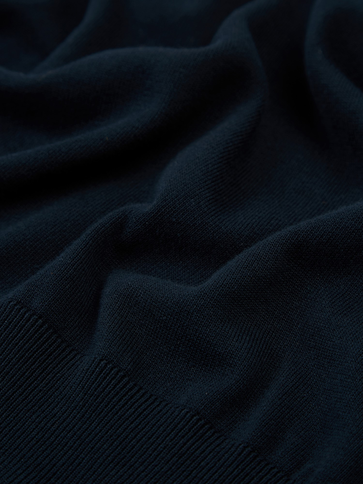 Navy Signature Knitted Roll Neck Jumper