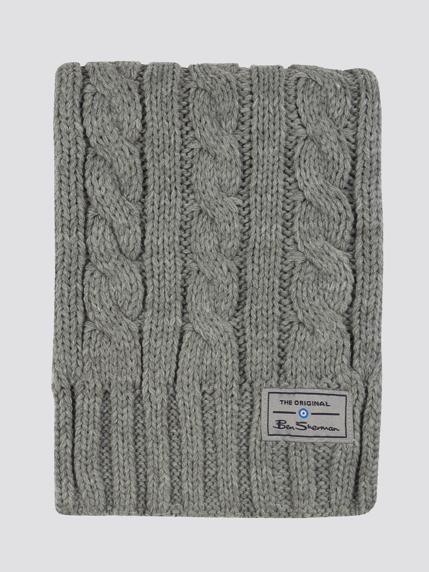 Reyes Cable Knit Hat and Scarf Set