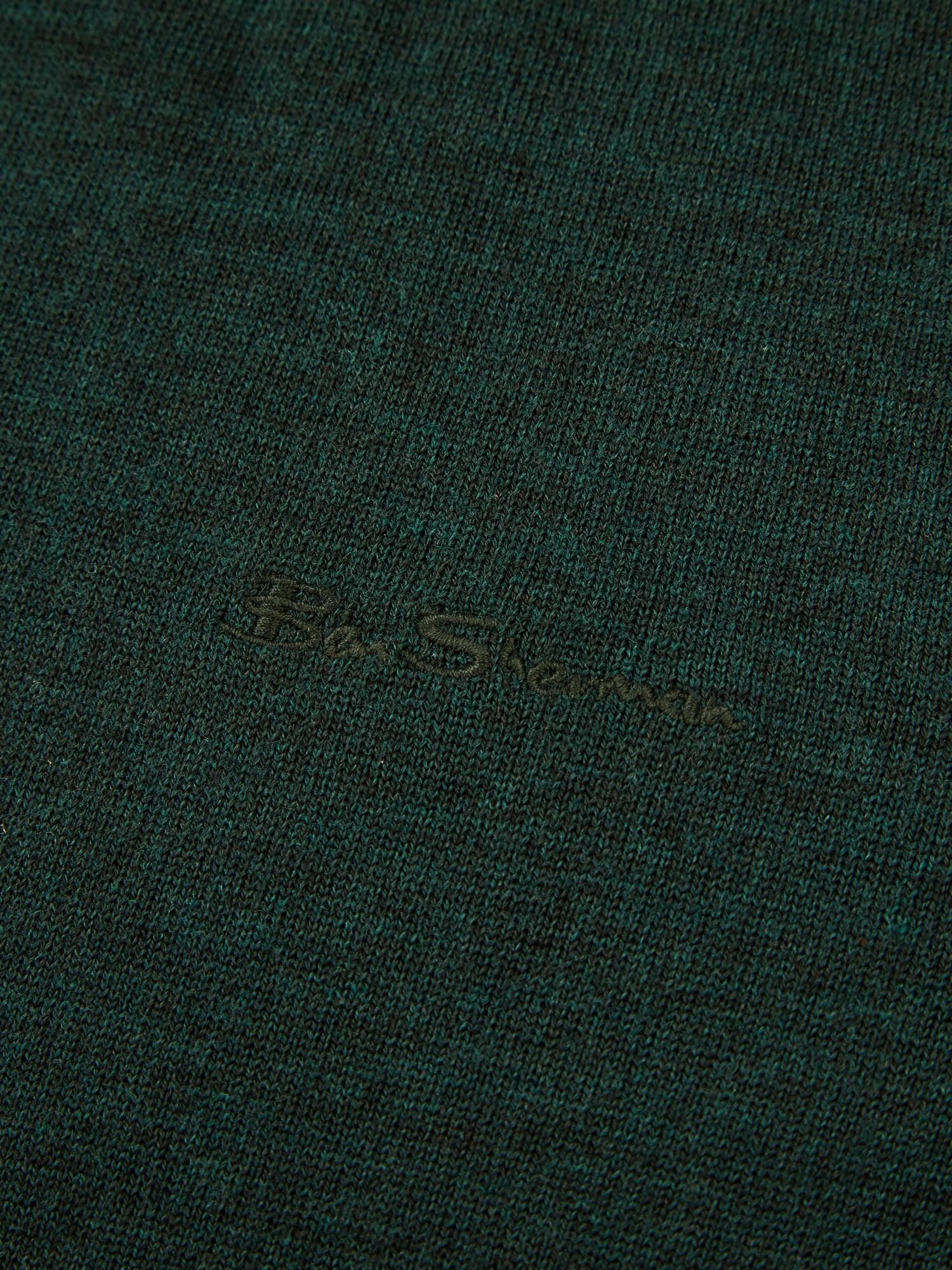 Dark Green Signature Merino Crew Neck Jumper