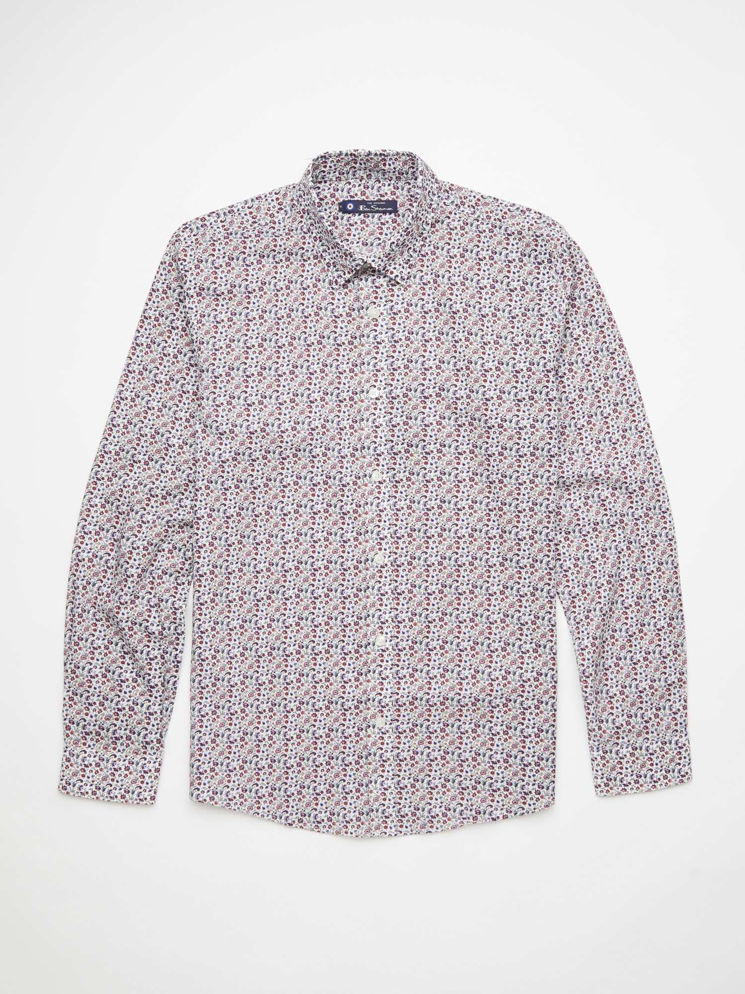 Long Sleeved Multicoloured Floral Shirt