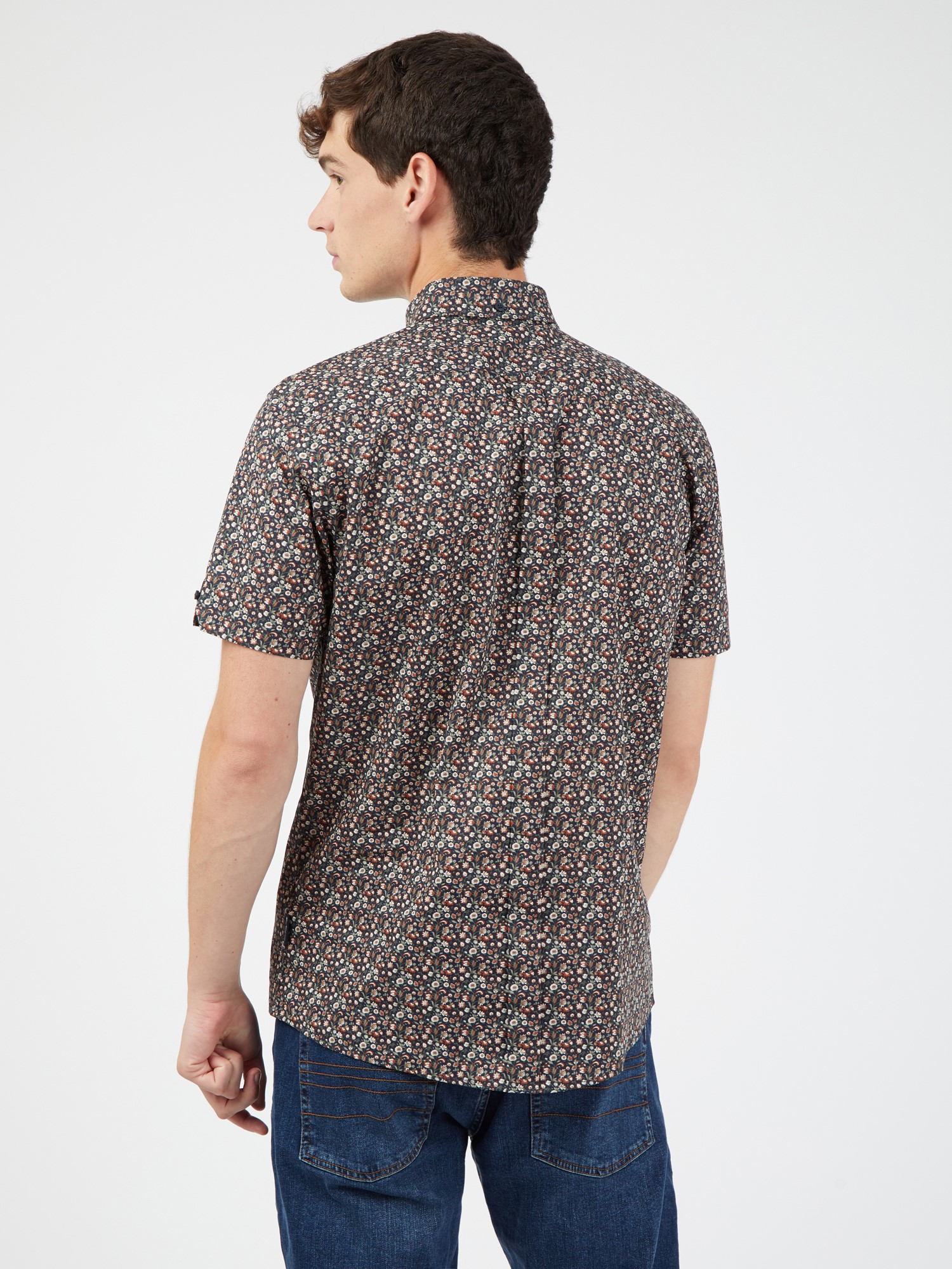 Short Sleeved Multicolour Floral Shirt