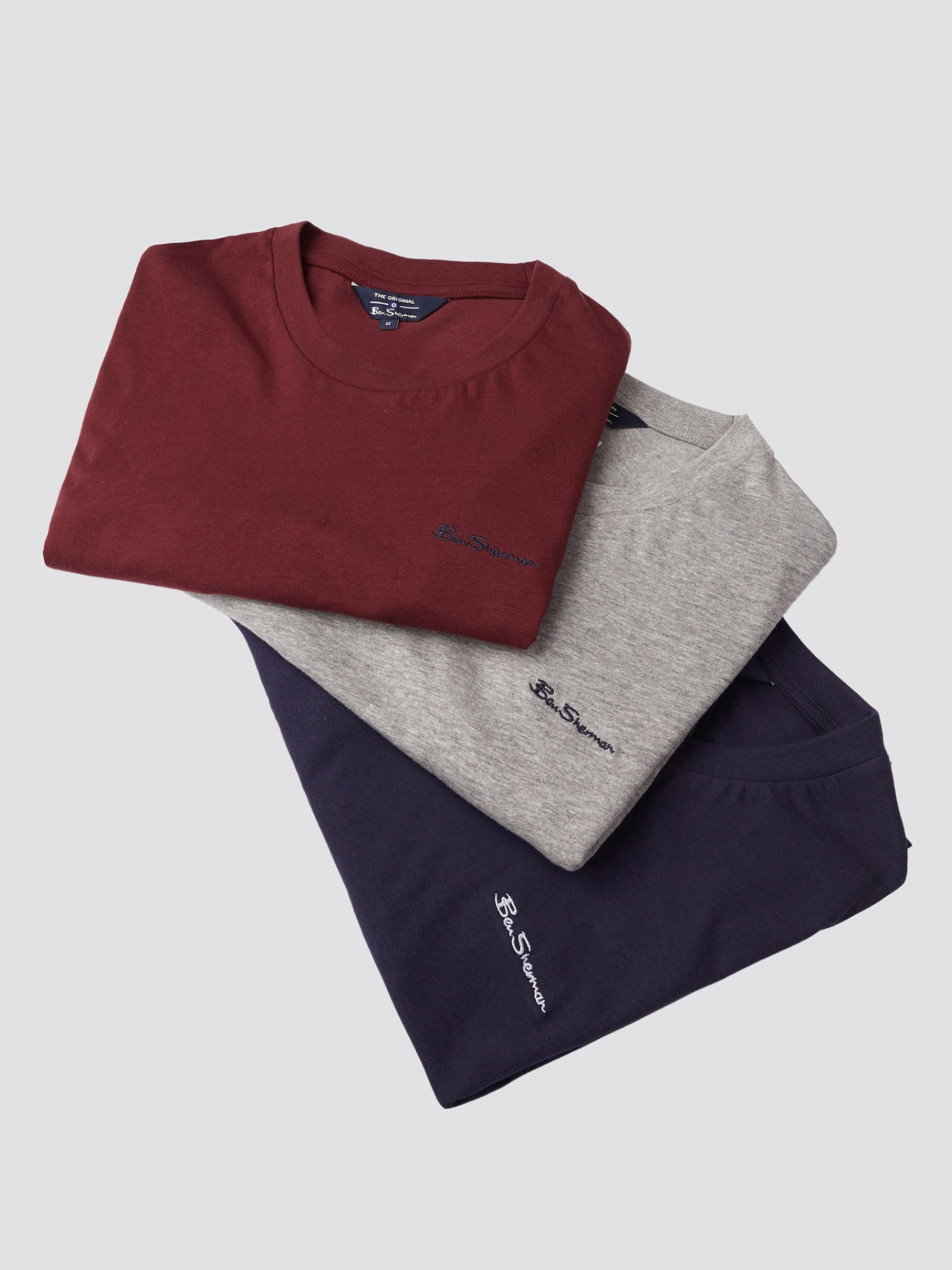 Multipack Ben Sherman Embroidered T-Shirts