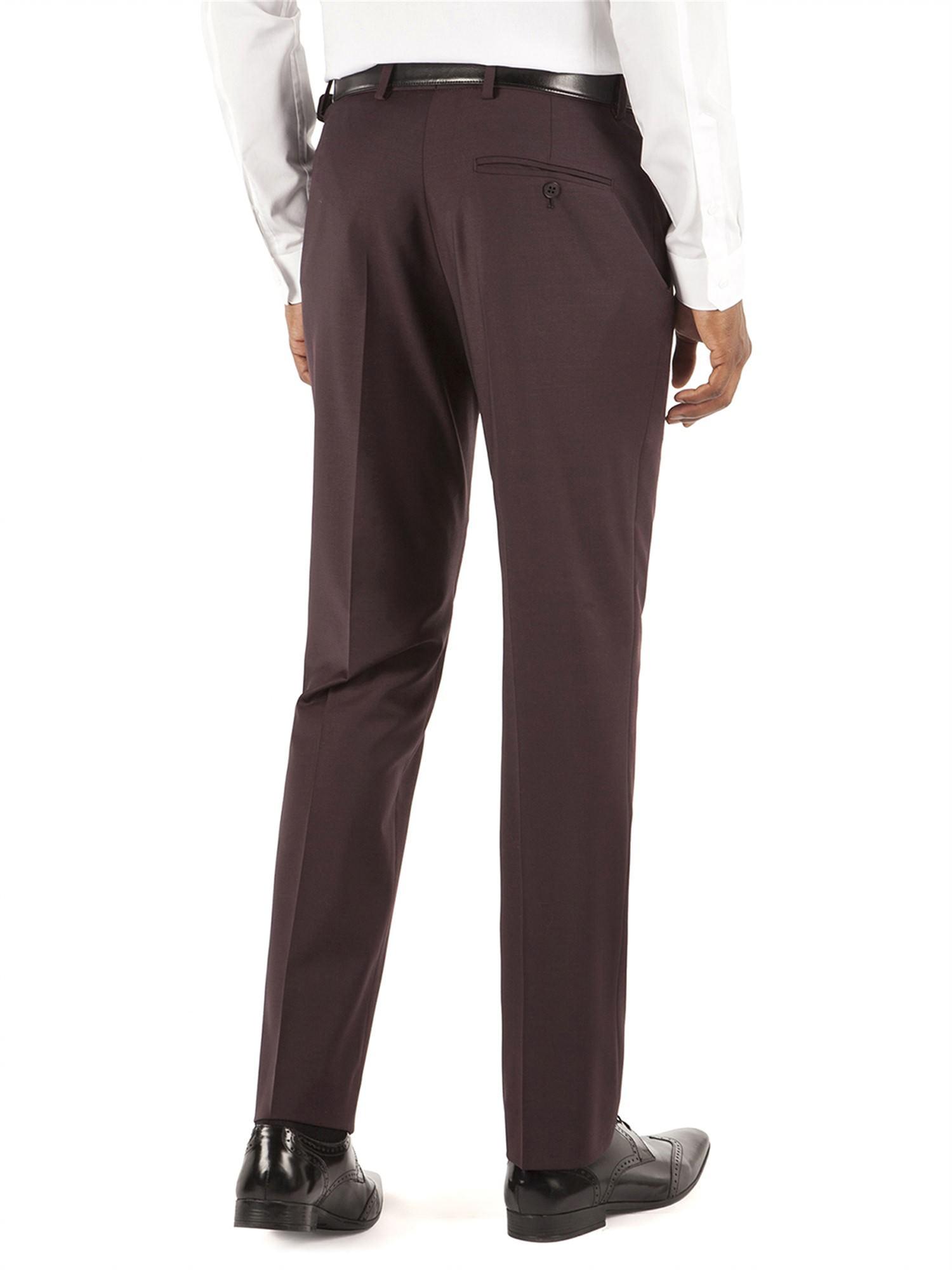 Burgundy Plain Kings Fit Trouser