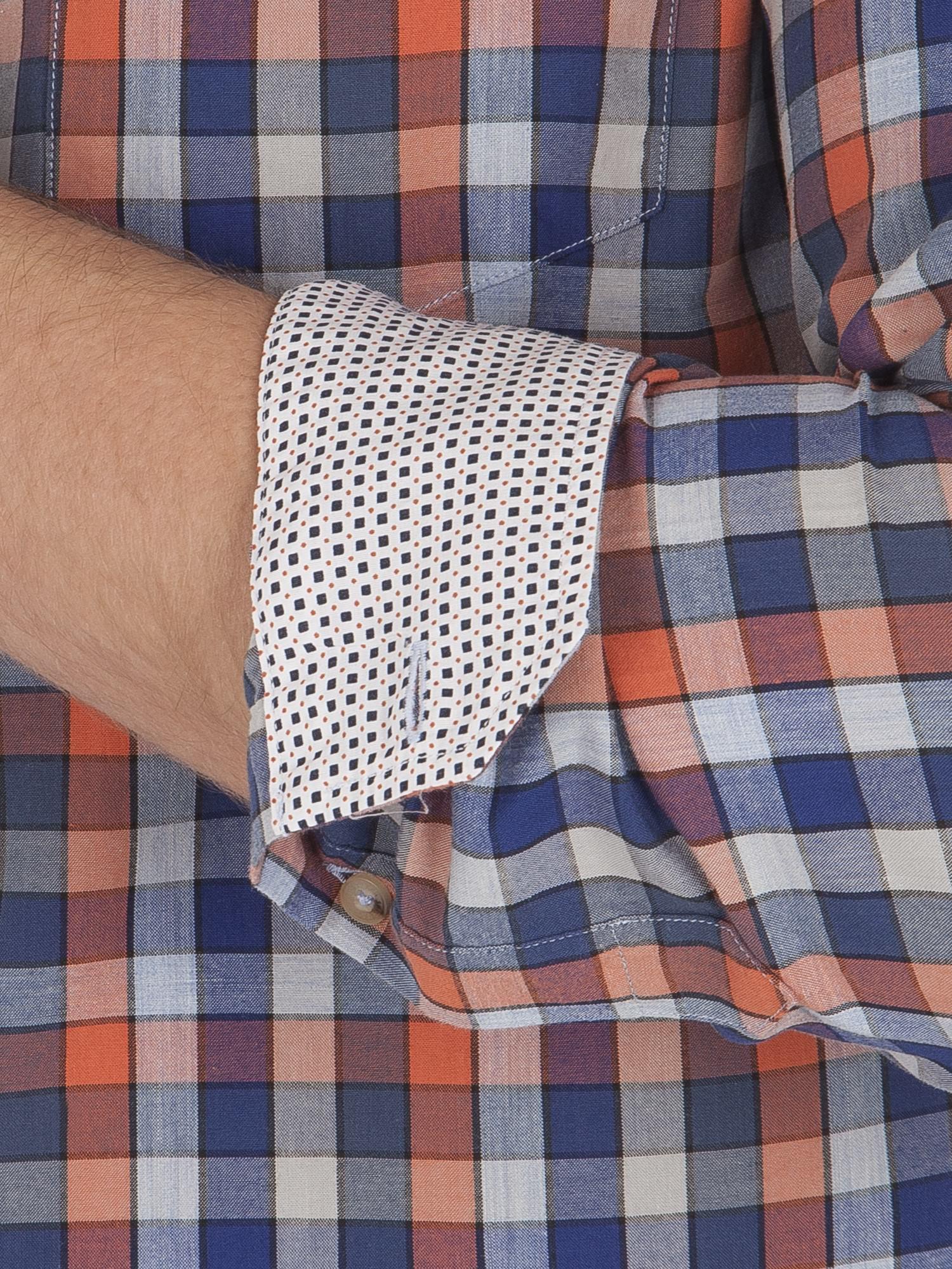 Long Sleeve Marl Multi Gingham Shirt