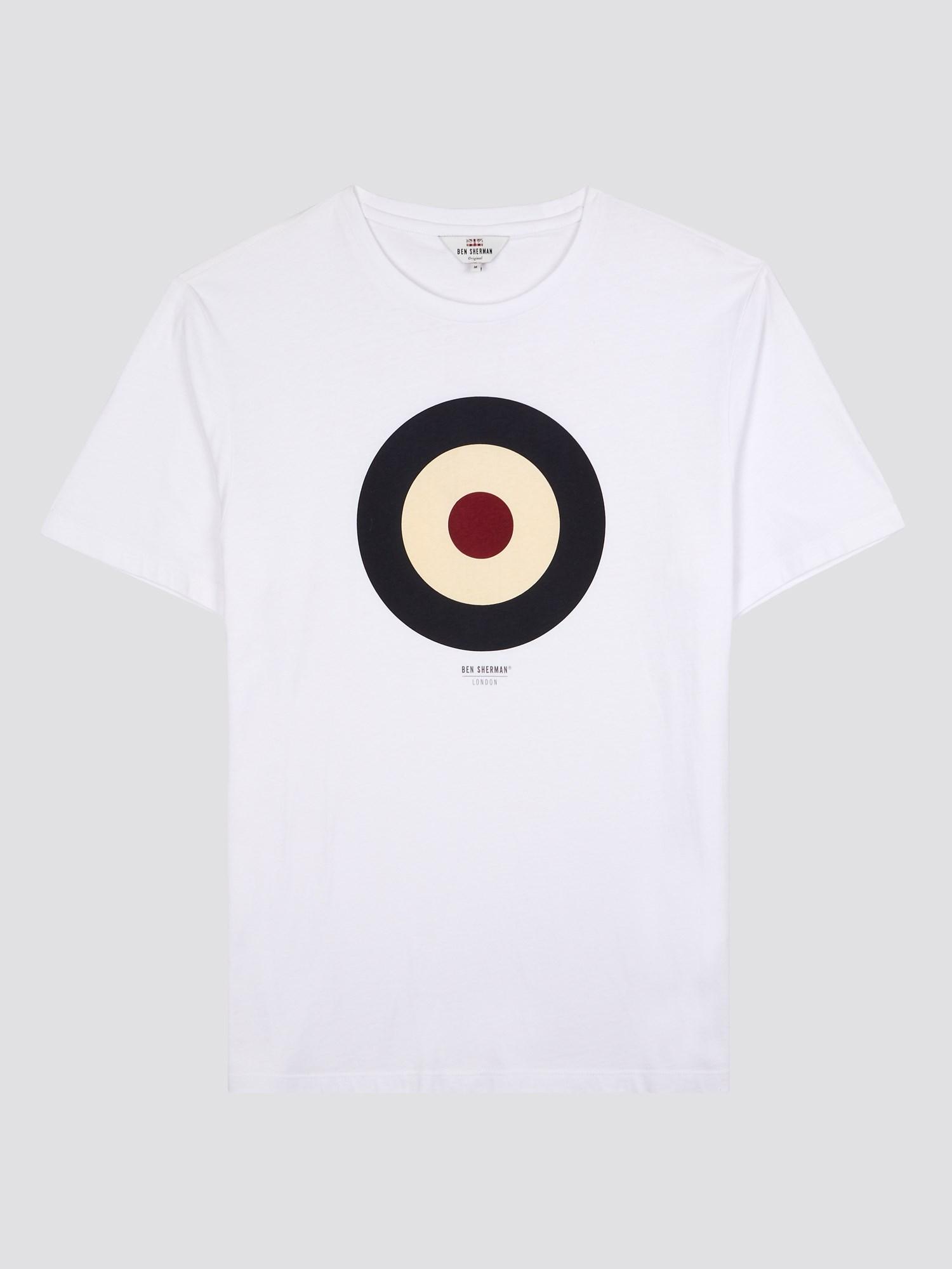 The Target Tee Bright white   Ben Sherman