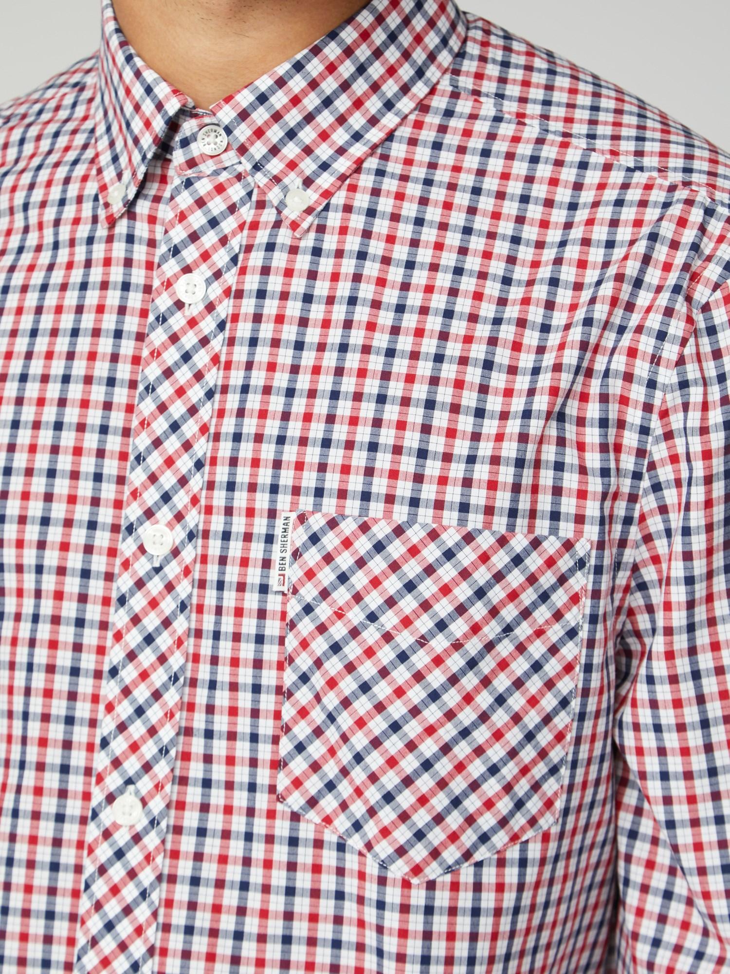 Ben Sherman Mens Ls Plaid Shirt