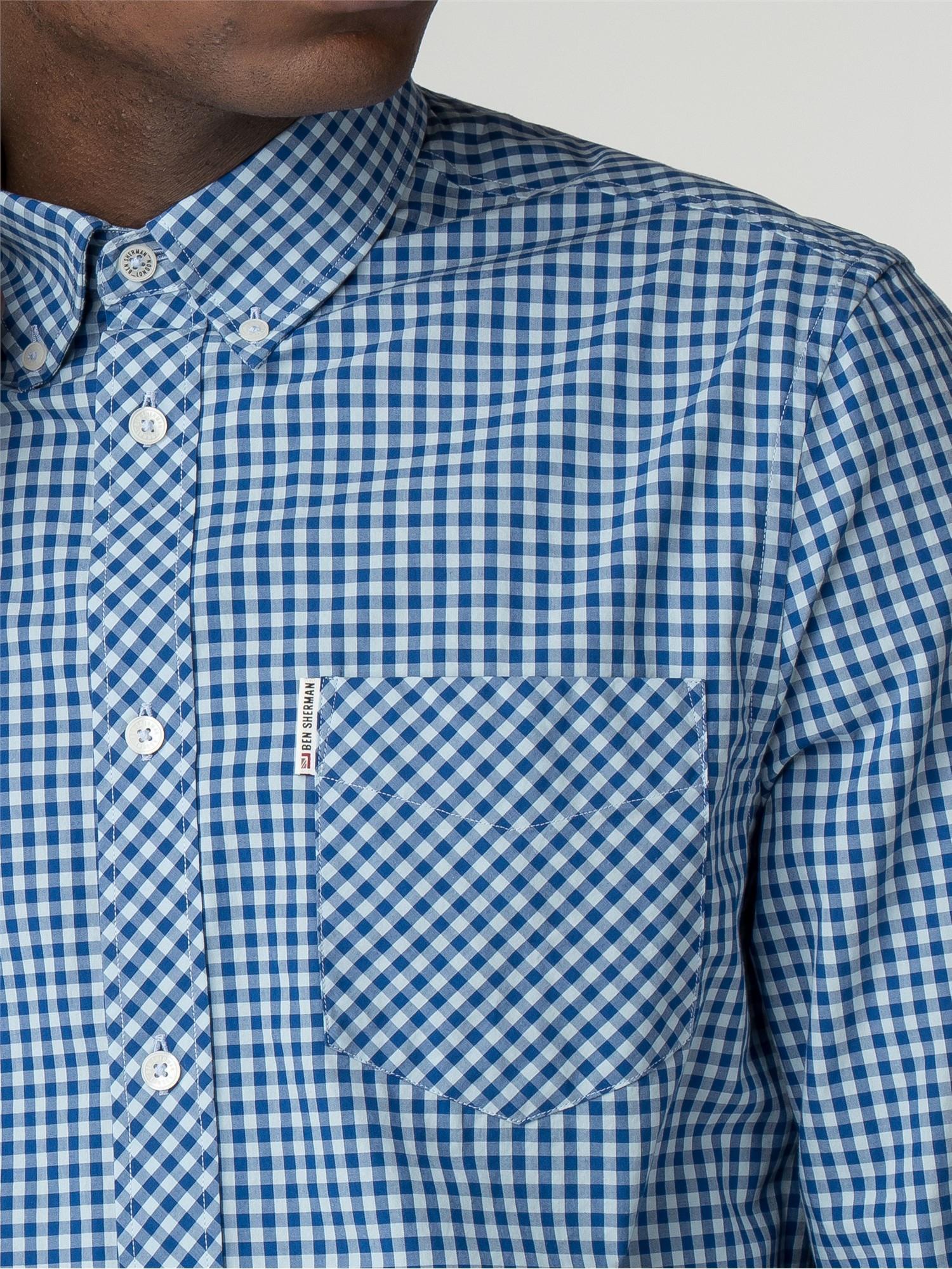 Ben Sherman Mens Ls Classic Gingham Shirt