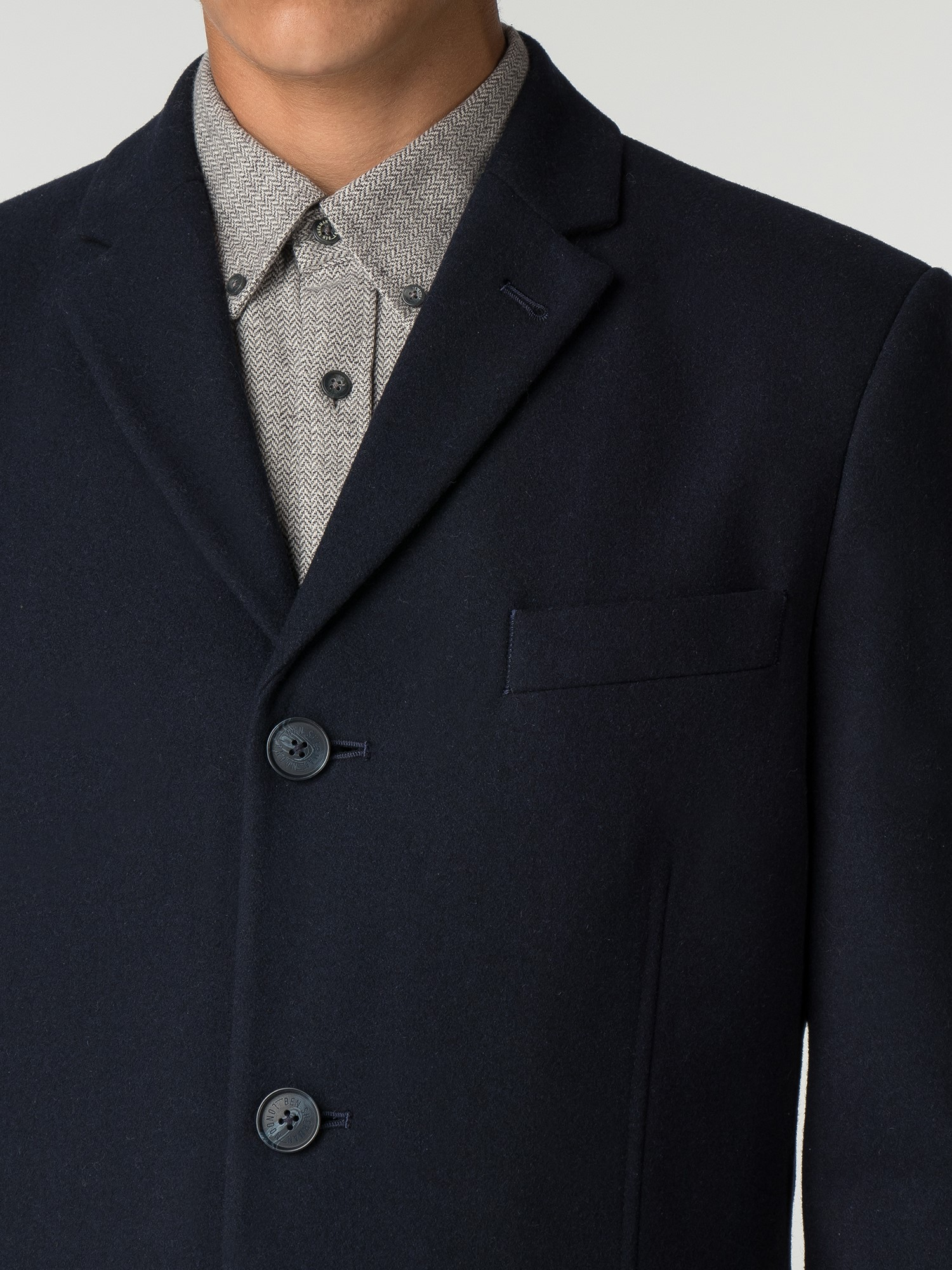 Men S Navy Blue Tailored Coat Ben Sherman Est 1963
