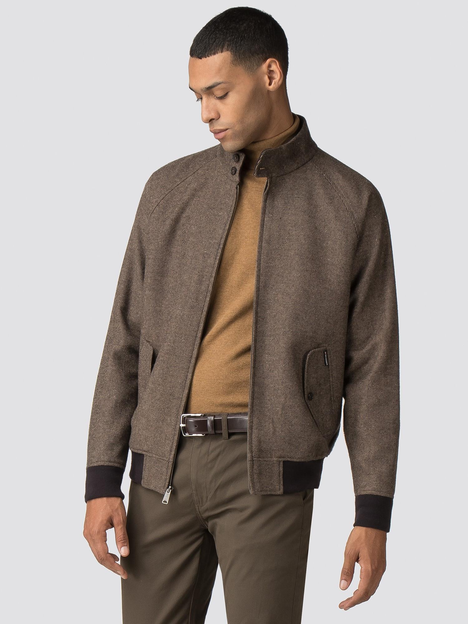 be3b268c6 Men's Brown Wool Harrington Jacket   Ben Sherman   Est 1963