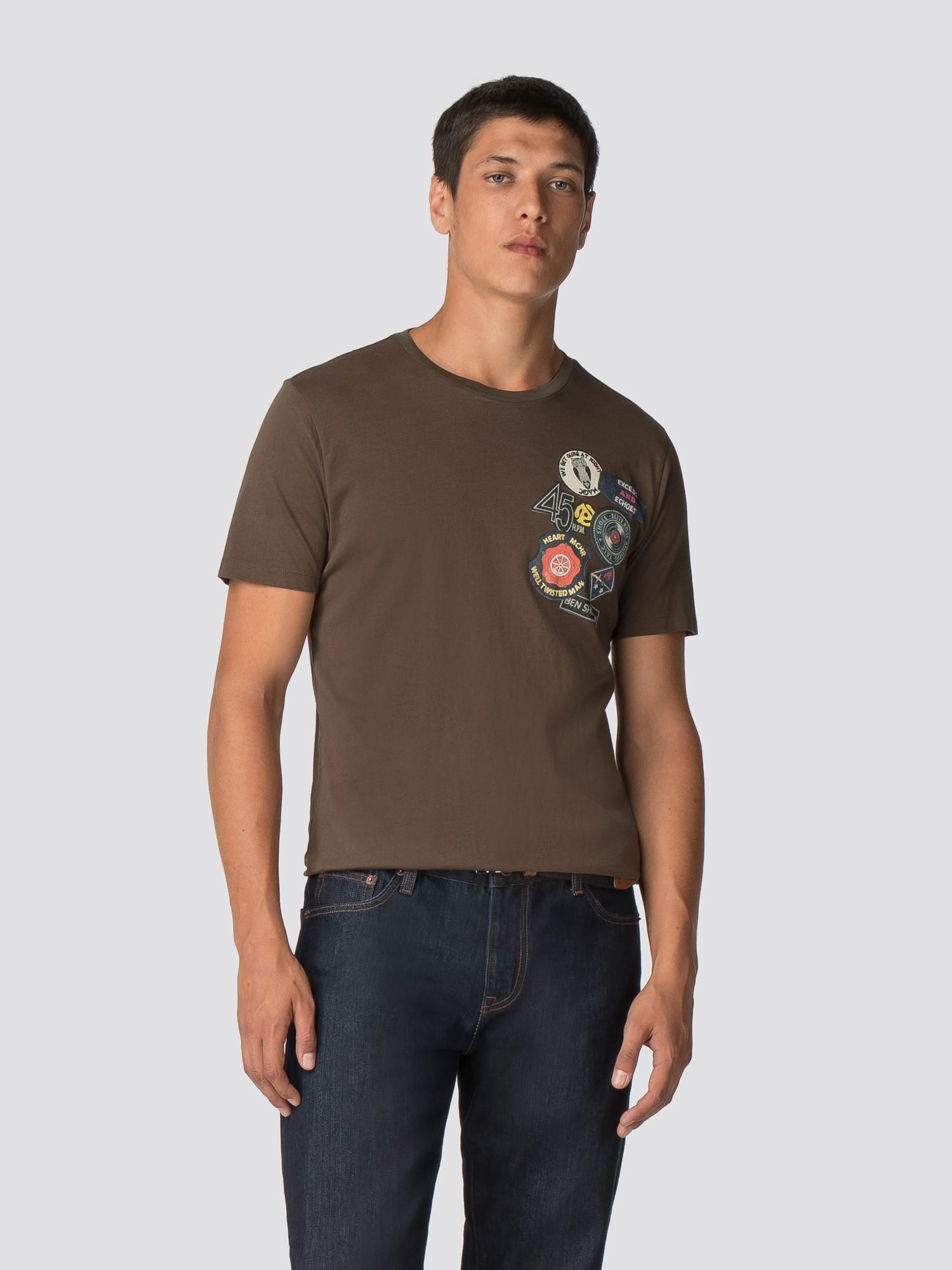 Northern Soul Badge Olive Green T Shirt Ben Sherman Est 1963