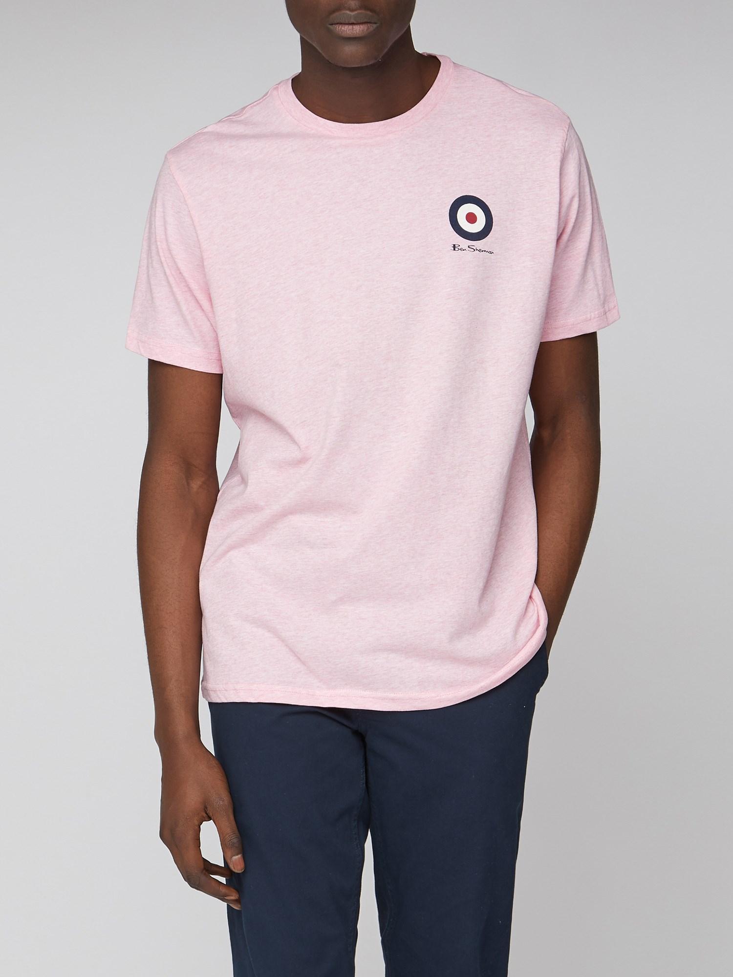 secretamente Regresa Noreste  Pale Pink Men's Emblem Mod Target Tee | Ben Sherman | Est 1963