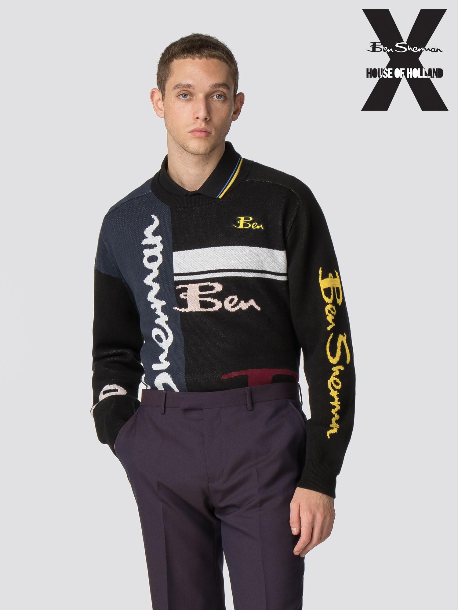 99515787e3d Men's Logo Knitted Crew Jumper | Ben Sherman x House of Holland