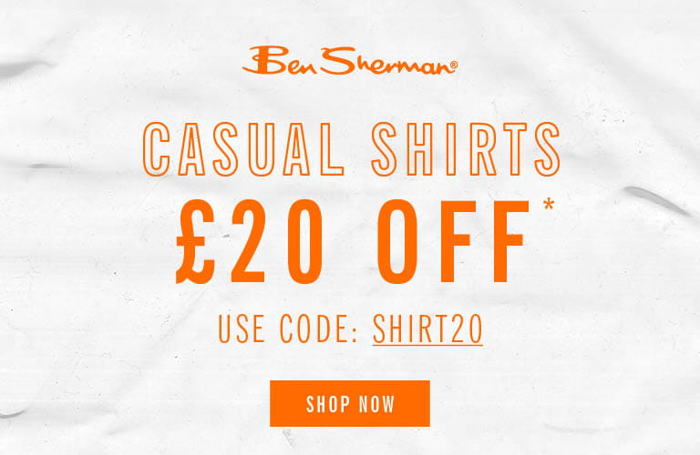Save £20 on Casual Shirts