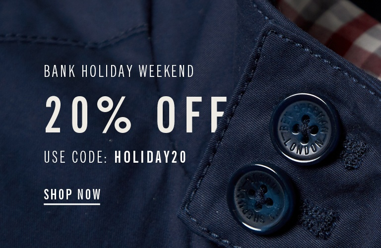 Bank Holiday Save 20%