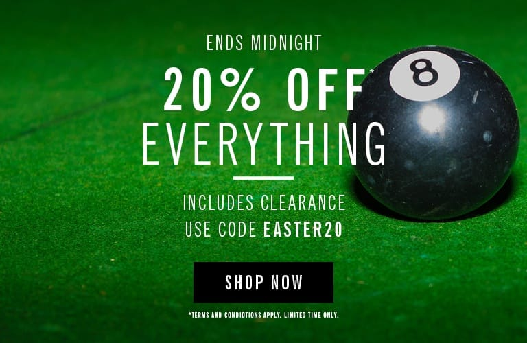 20% Off Everything Ends Midnight