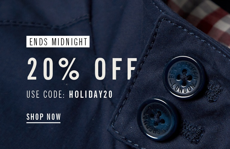 Bank Holiday Save 20% Ends Midnight