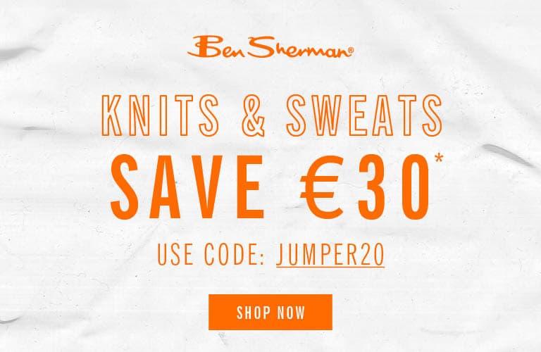Save 30€ on Knits & Sweats