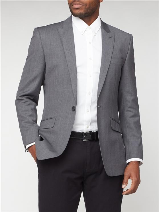 Grey Kings Fit Suit Jacket